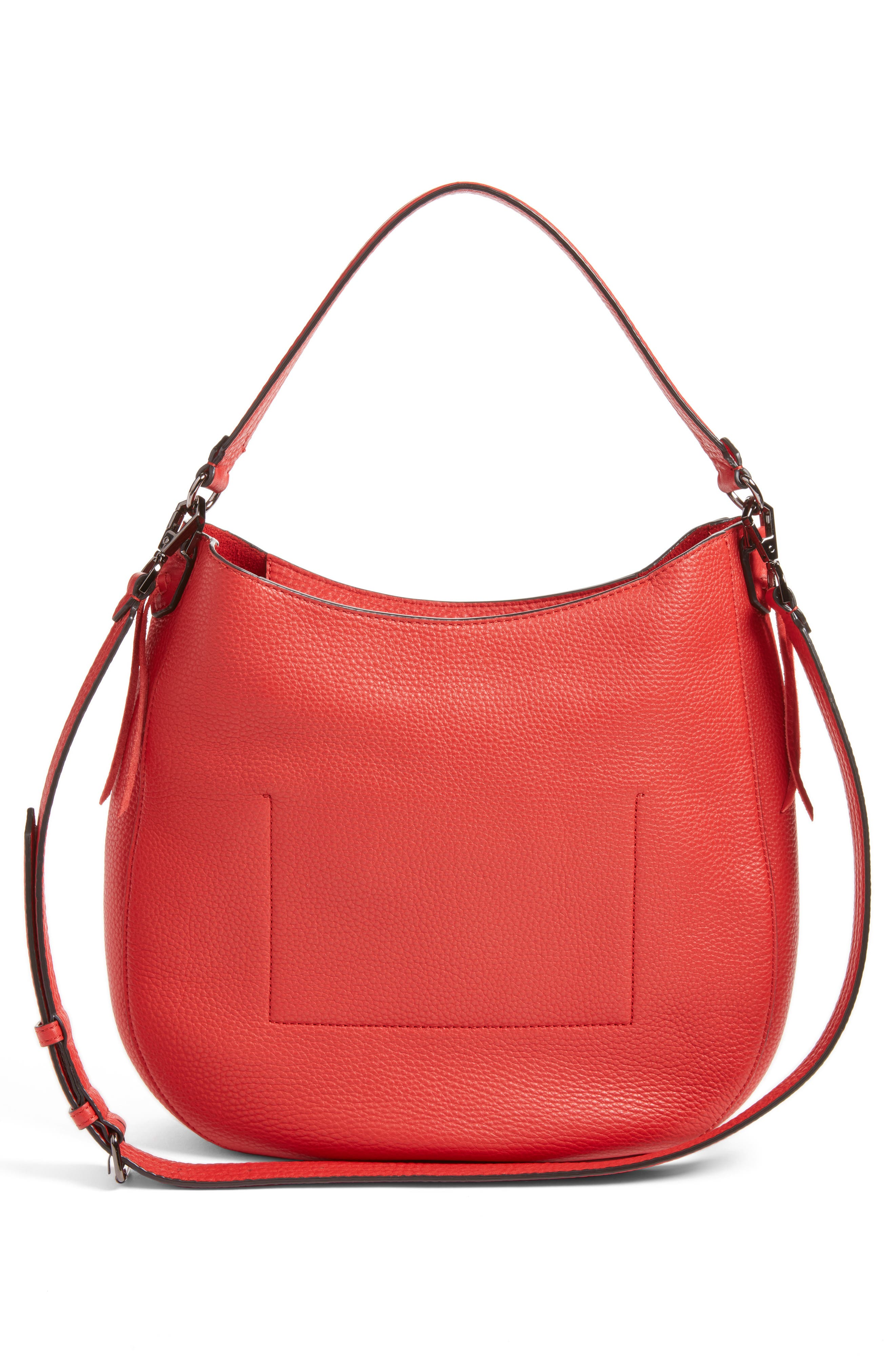 Unlined Convertible Whipstitch Hobo,                             Alternate thumbnail 14, color,