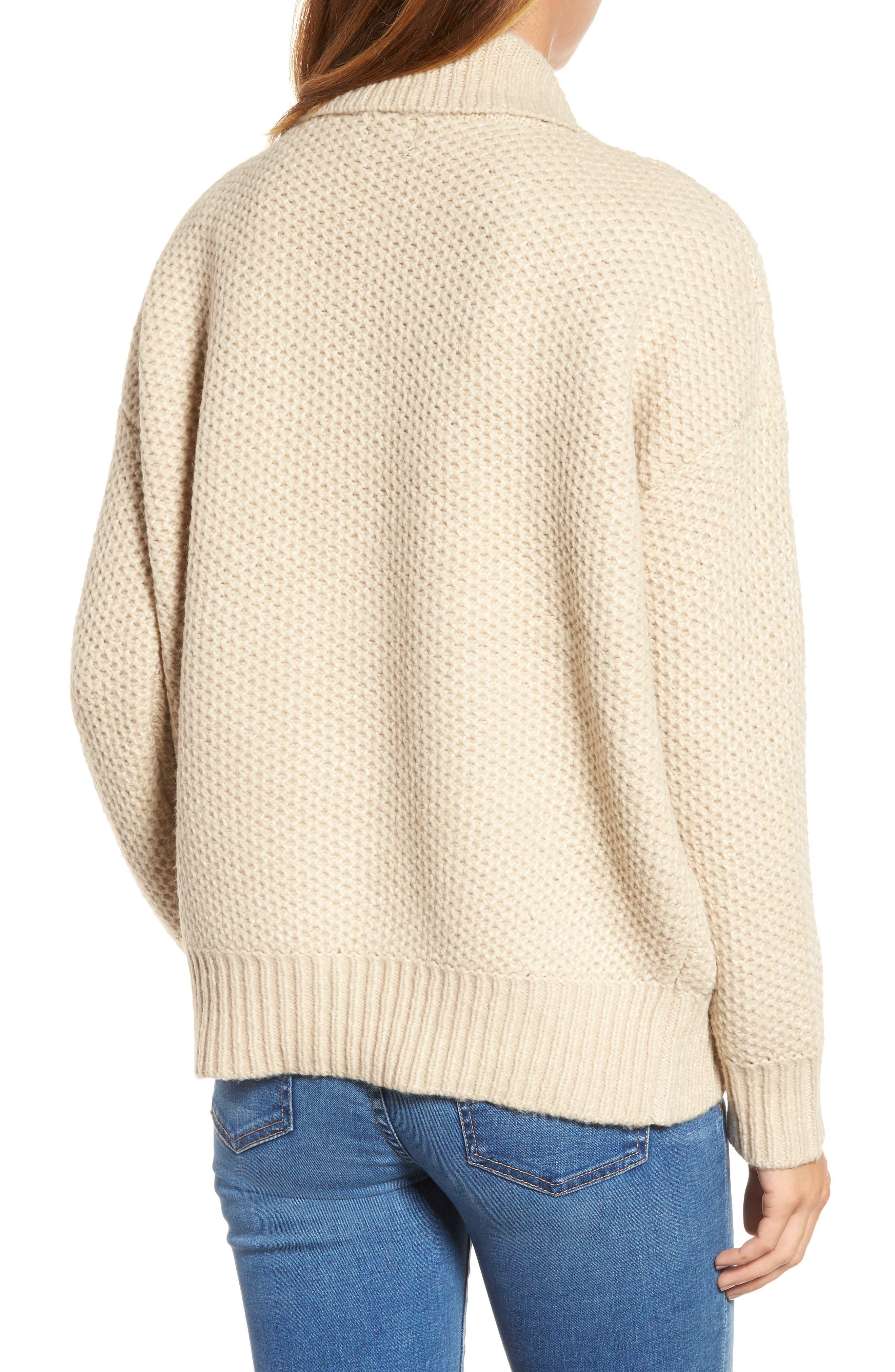 Drape Front Knit Cardigan,                             Alternate thumbnail 2, color,