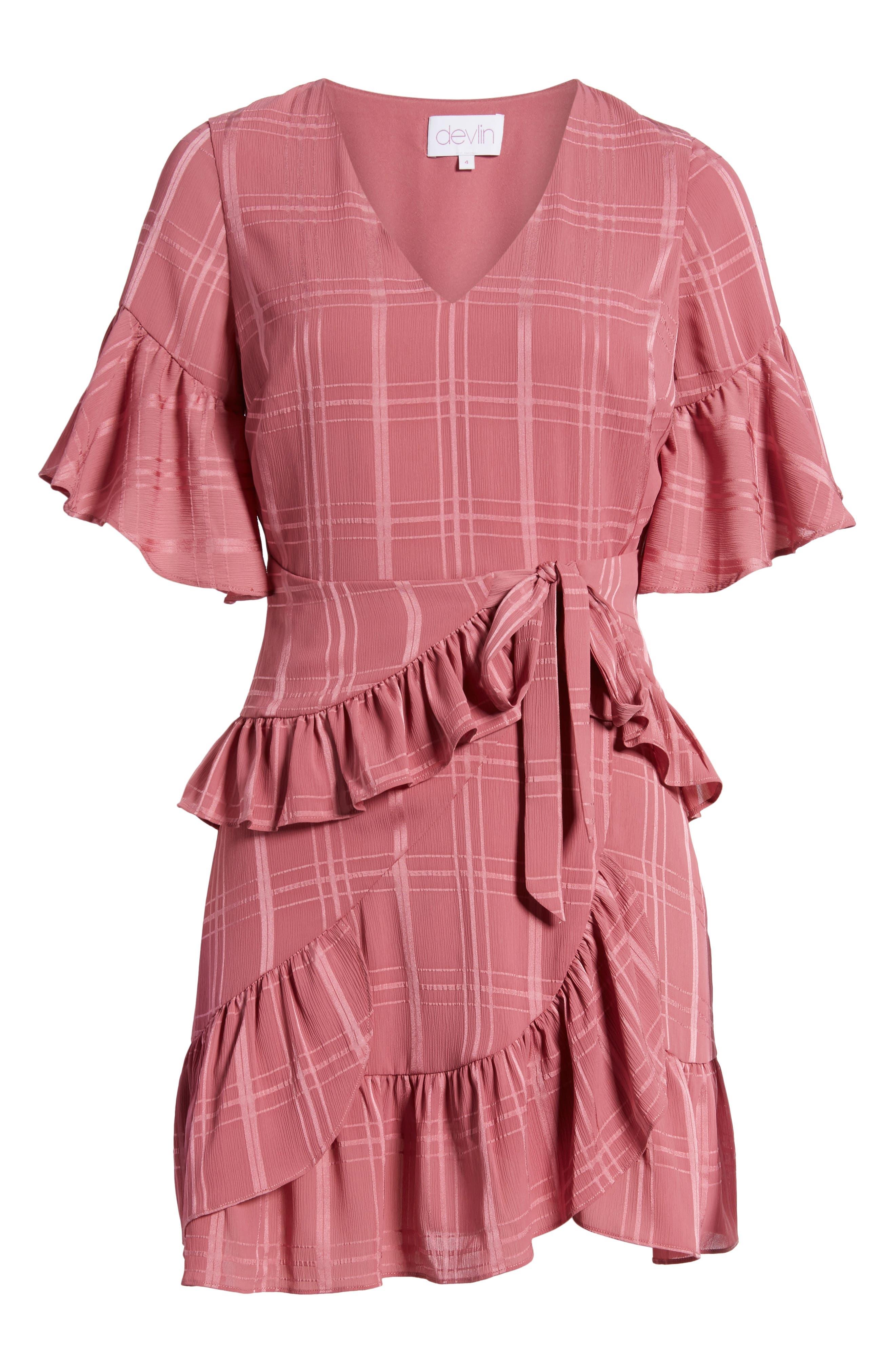 Hudson Ruffle Minidress,                             Alternate thumbnail 6, color,                             683