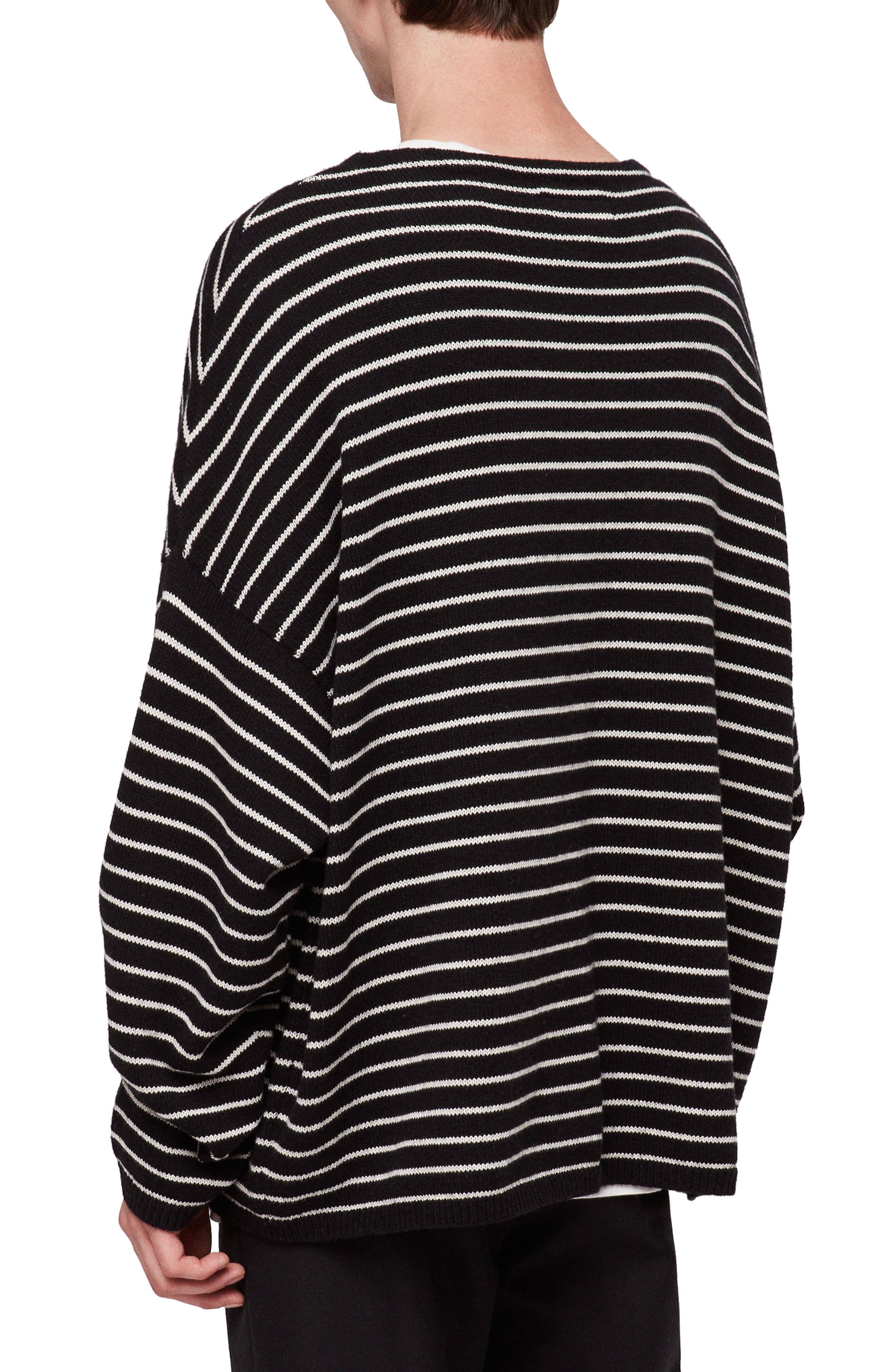ALLSAINTS,                             Marty Stripe Crewneck Sweater,                             Alternate thumbnail 2, color,                             016