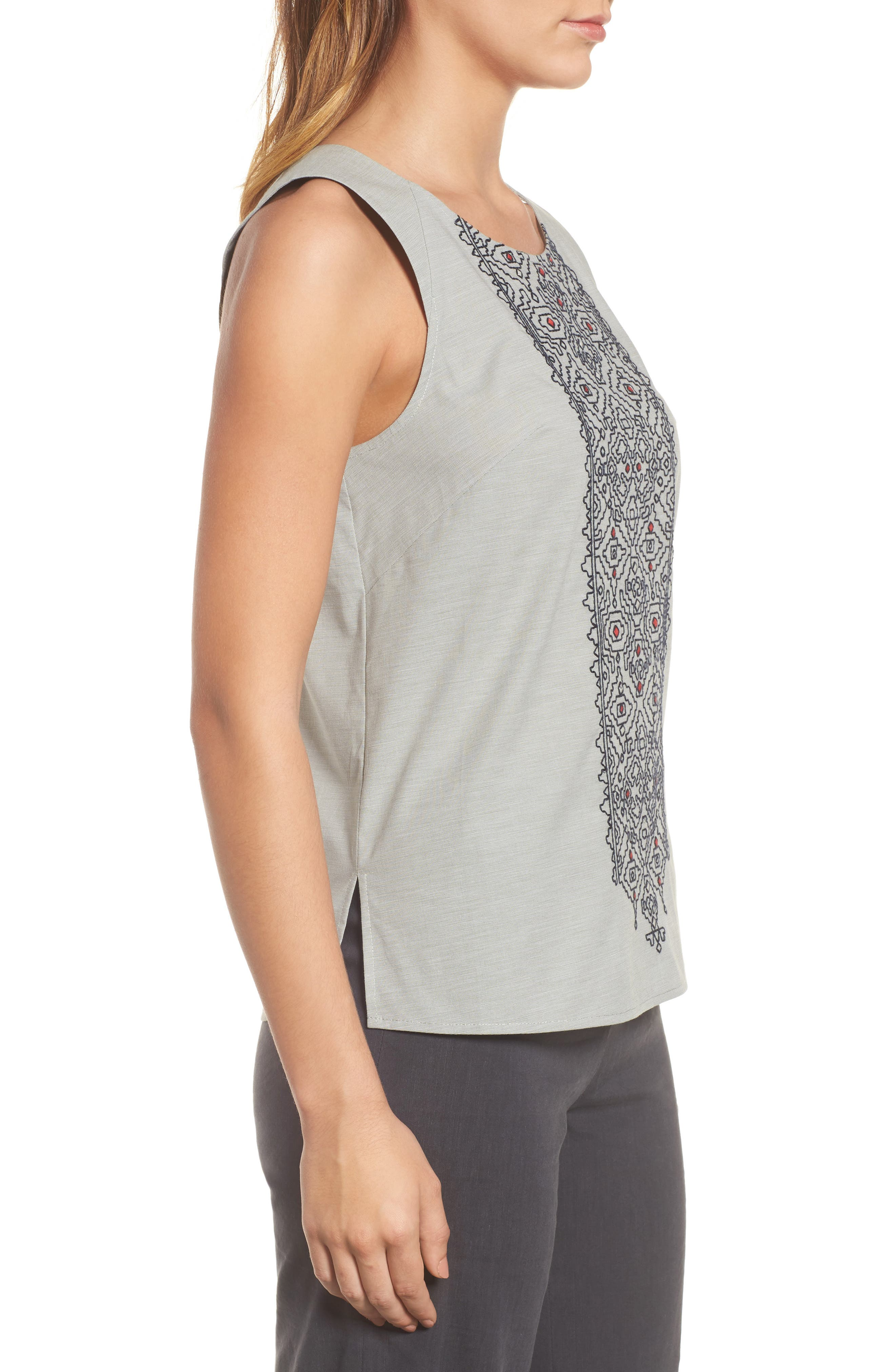 Cypress Embroidered Tank,                             Alternate thumbnail 3, color,