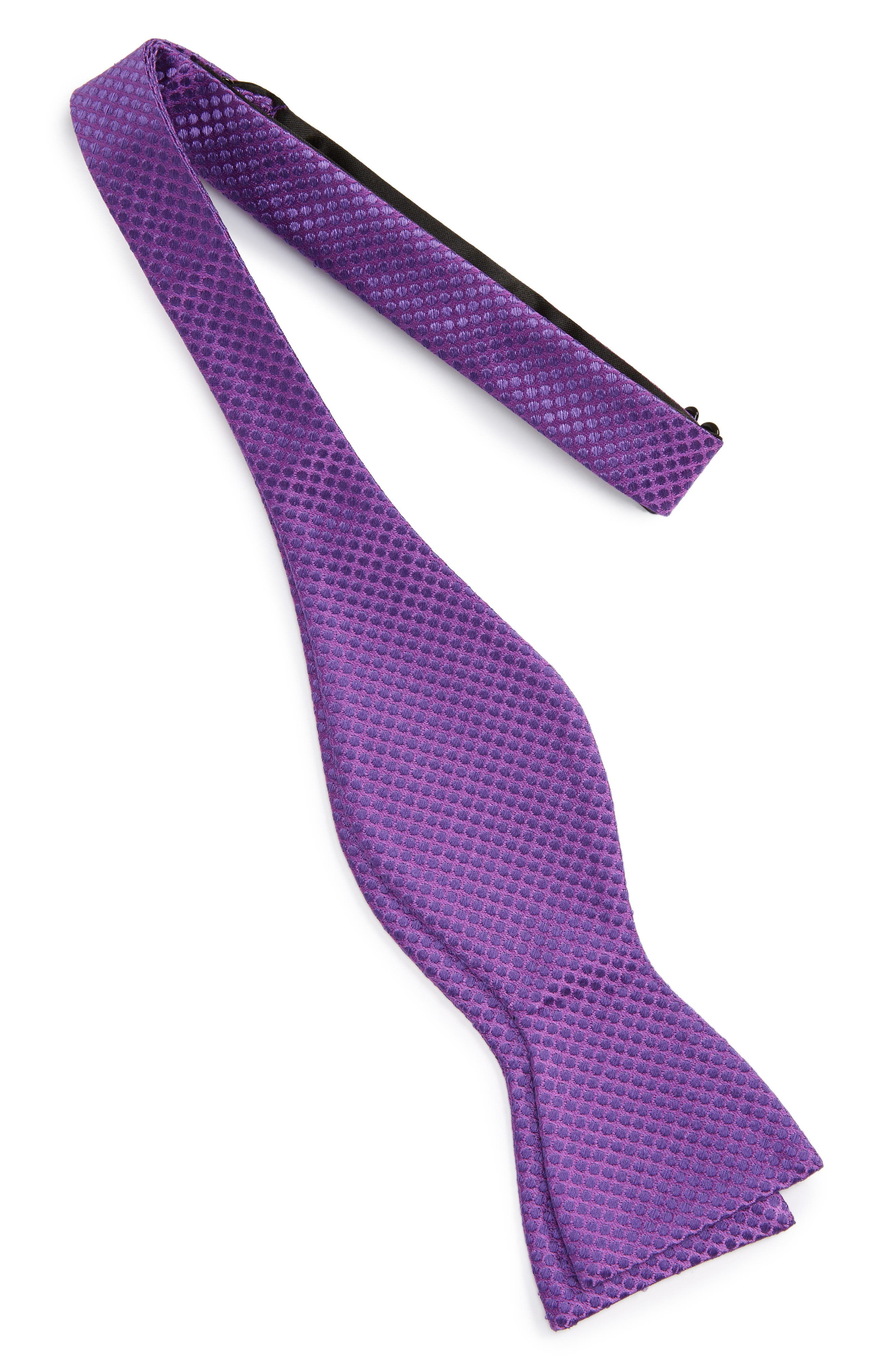 Saturated Dot Silk Bow Tie,                             Alternate thumbnail 7, color,