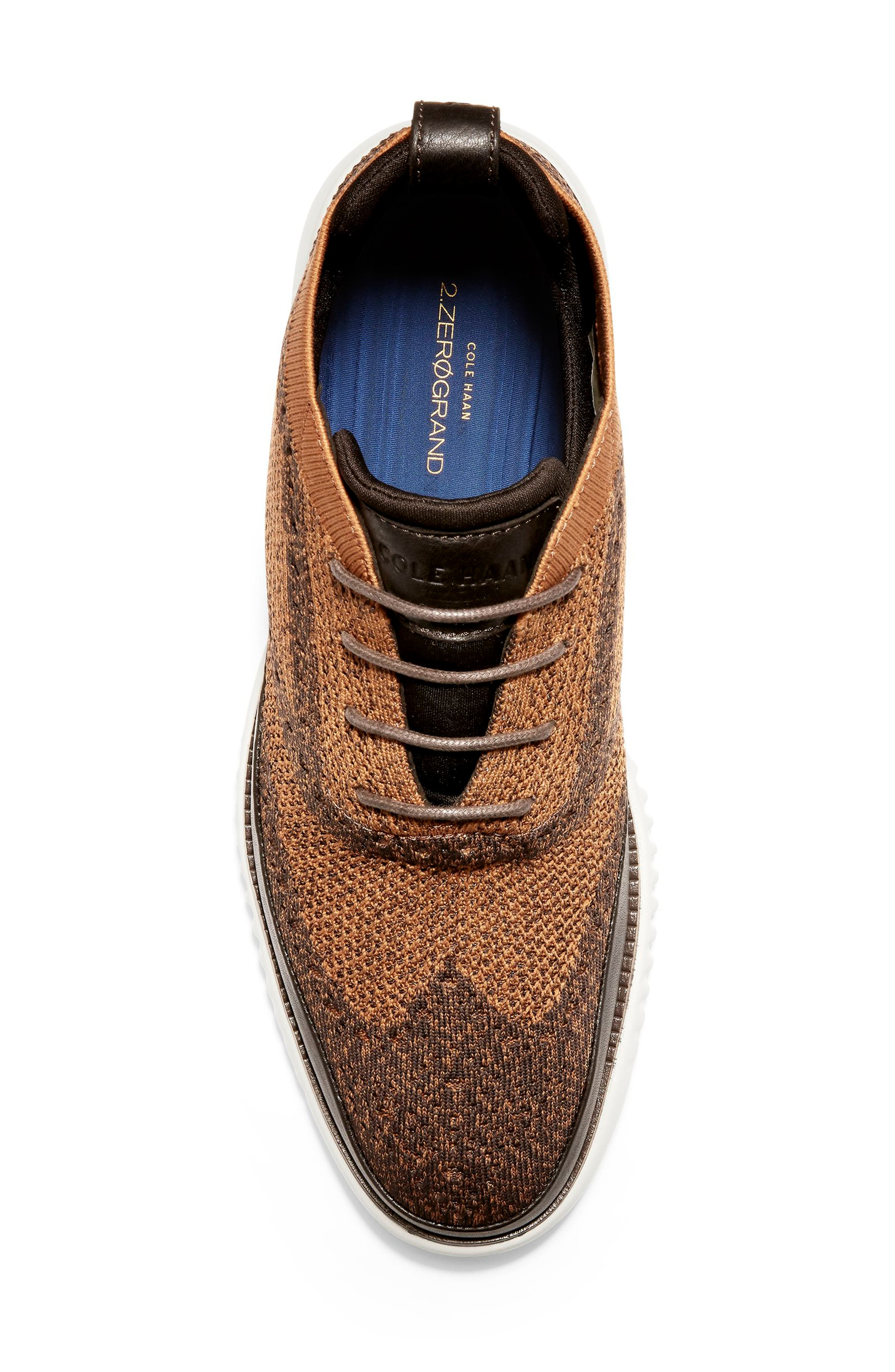 2.ZeroGrand Stitchlite Water Resistant Chukka Boot,                             Alternate thumbnail 5, color,                             BROWN HEATHERED KNIT