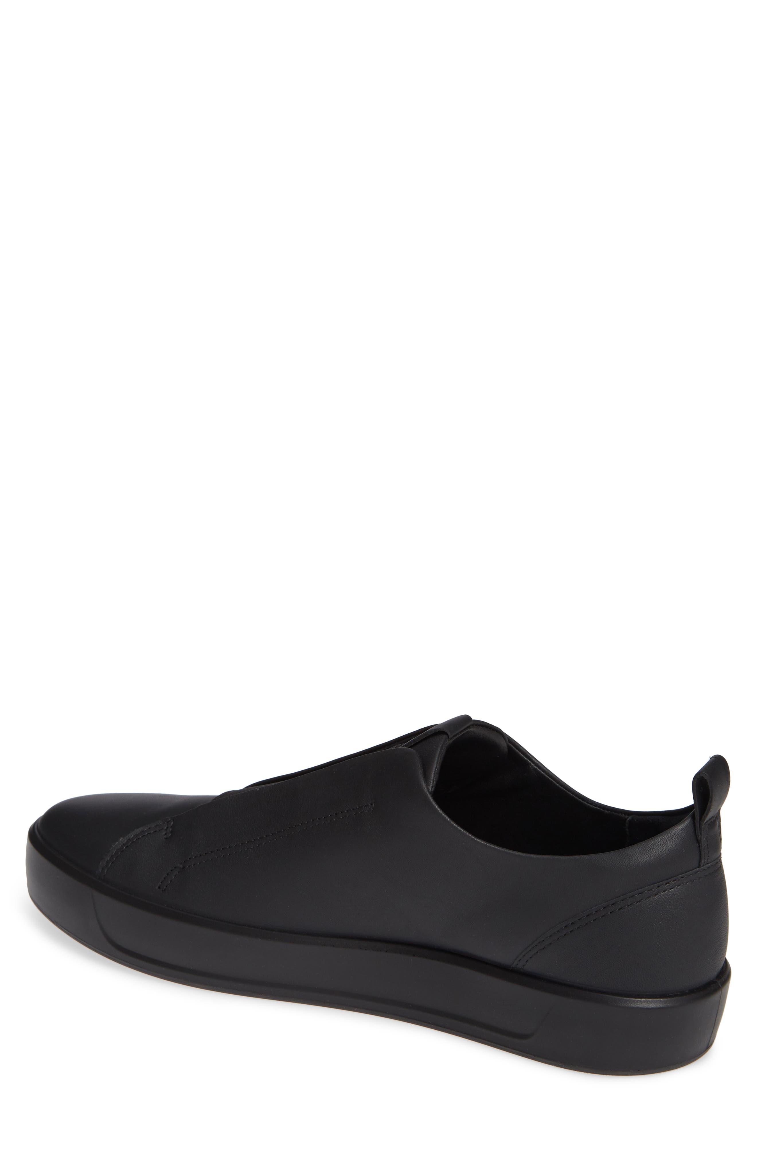 Soft 8 Slip-On Sneaker,                             Alternate thumbnail 2, color,                             BLACK/ BLACK LEATHER