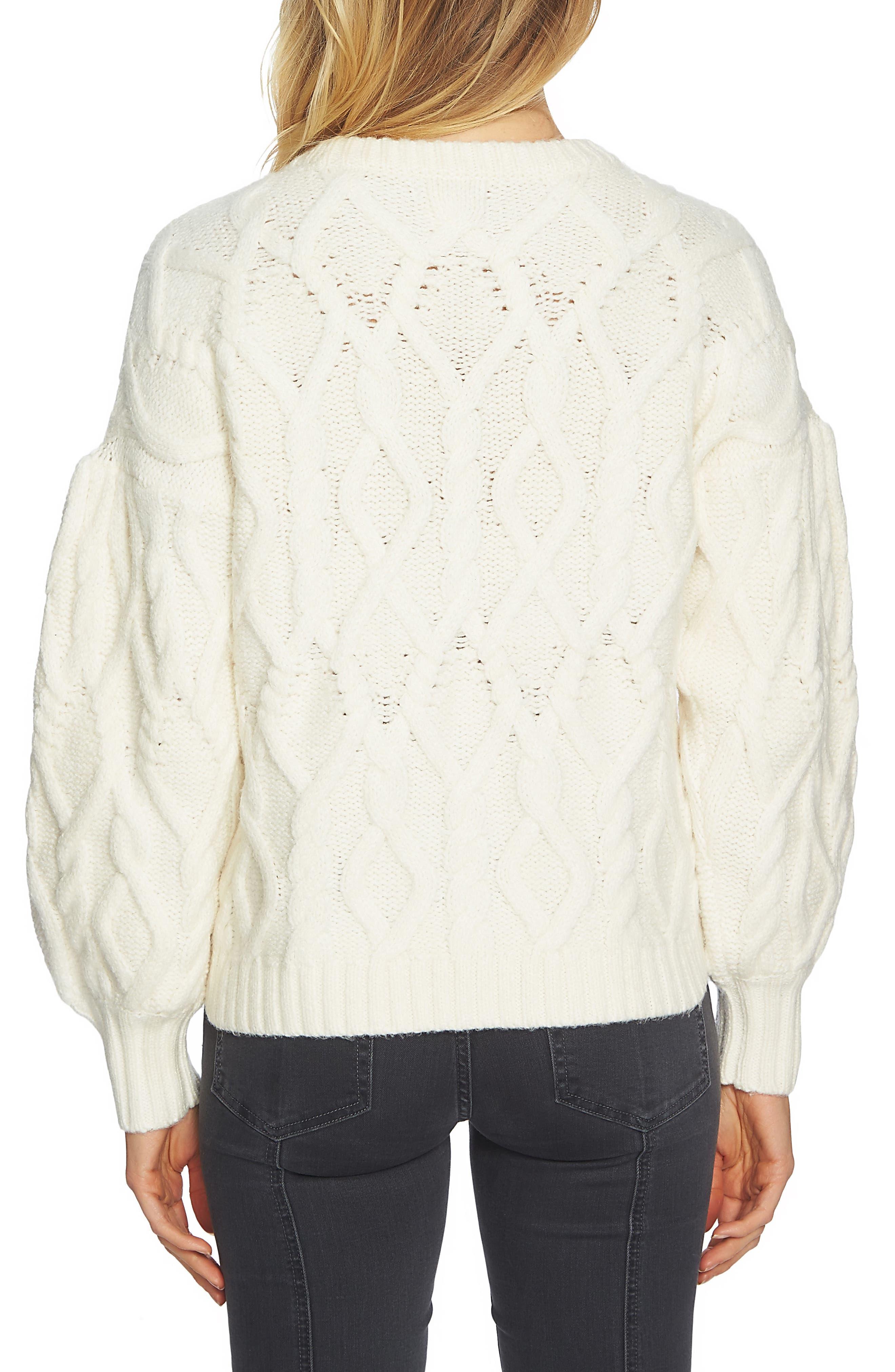 Blouson Sleeve Sweater,                             Alternate thumbnail 2, color,