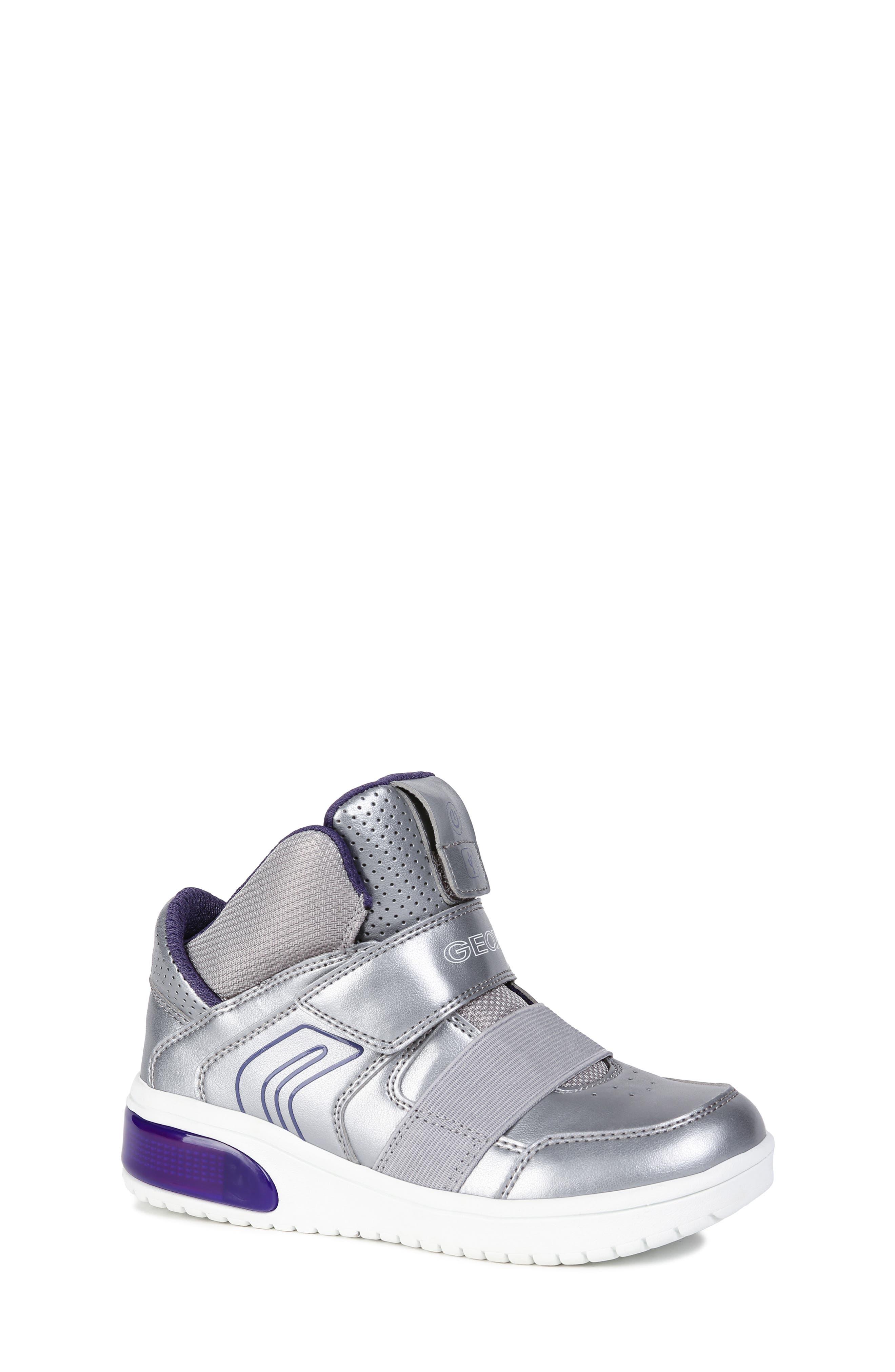 Xled Light Up Sneaker,                         Main,                         color, SILVER/ VIOLET