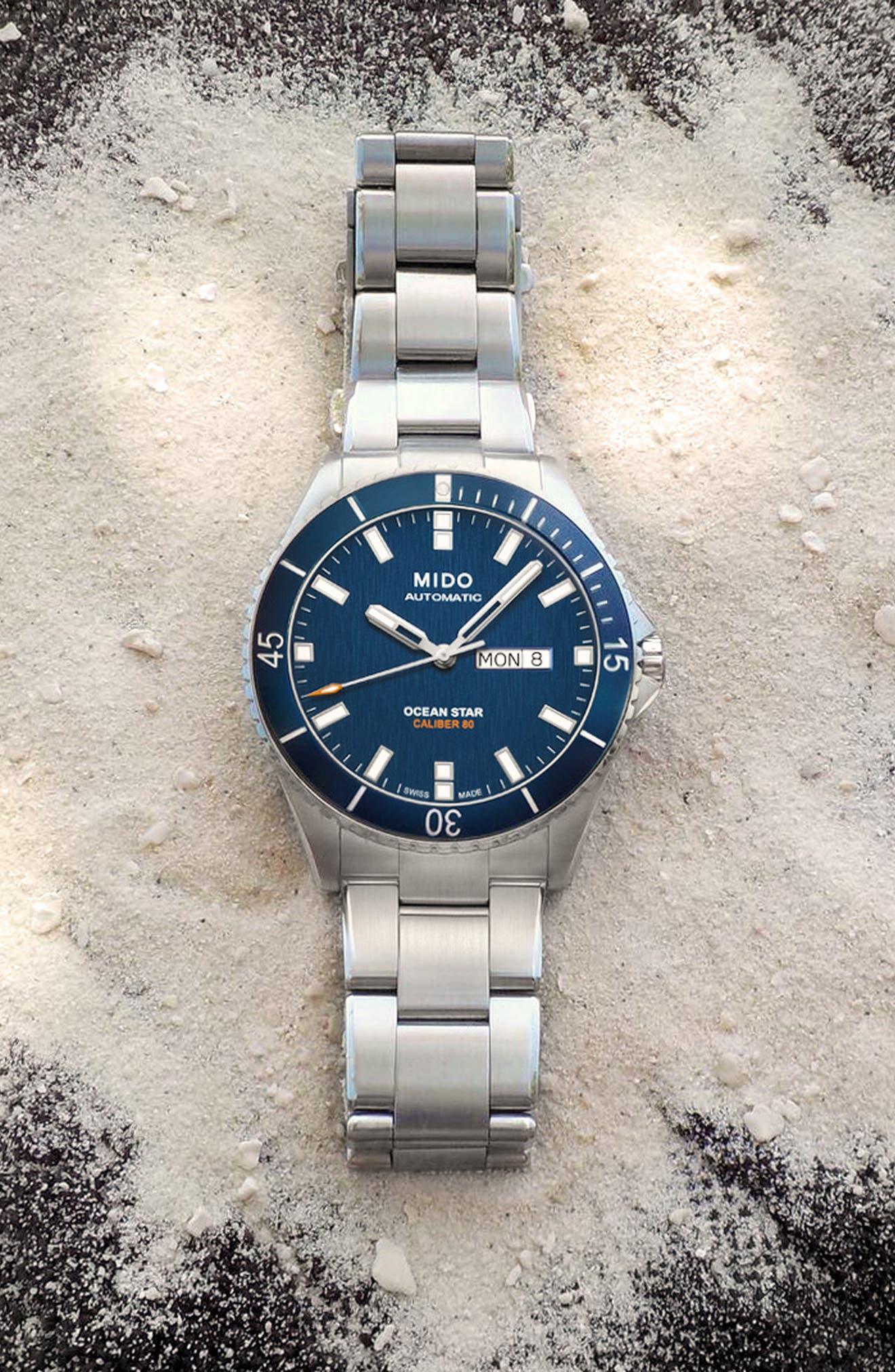 Ocean Star Diver Bracelet Watch, 42mm,                             Alternate thumbnail 7, color,