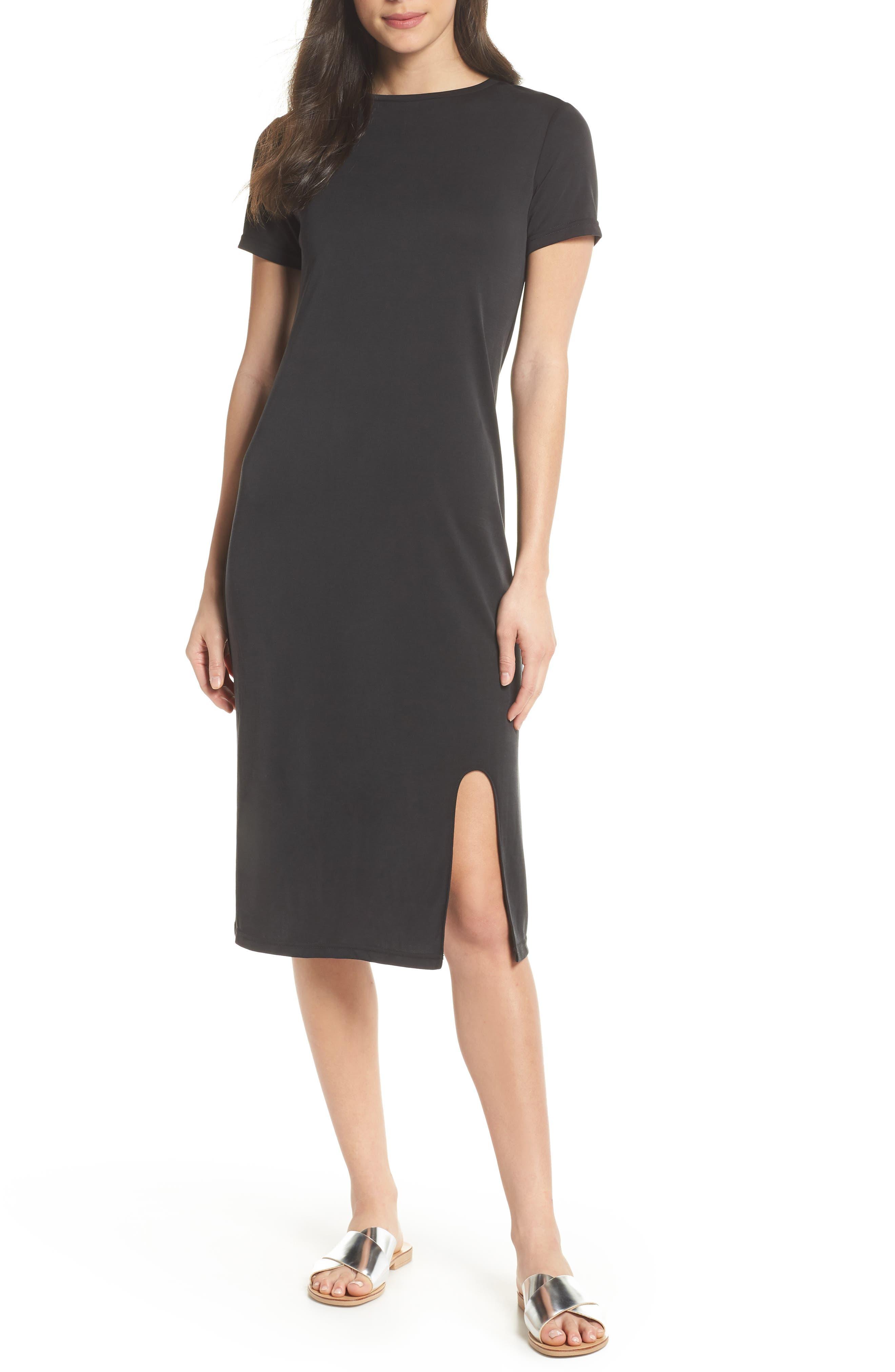 Jersey Midi Dress,                             Main thumbnail 1, color,                             001
