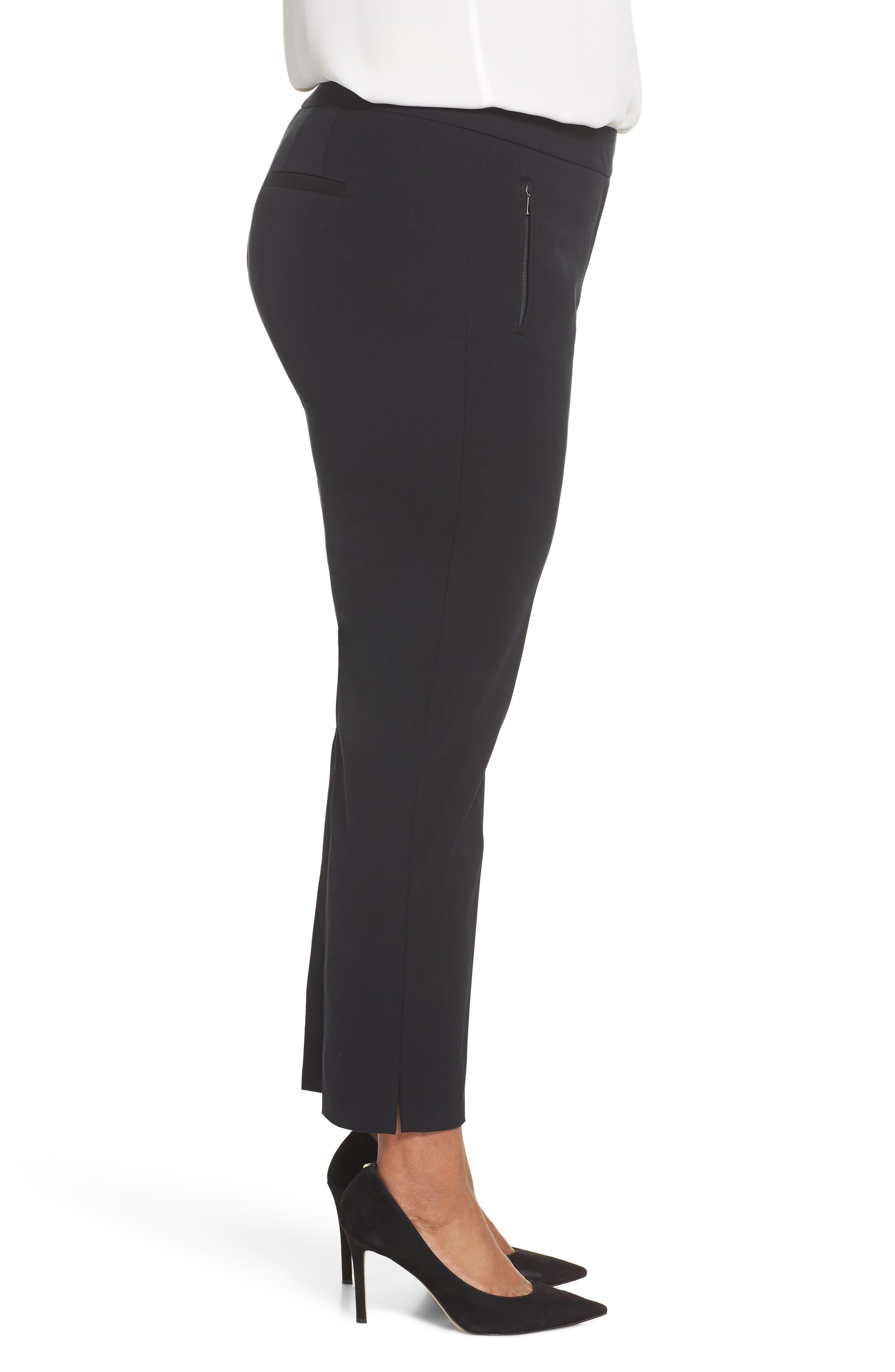 Zip Taper Pants,                             Alternate thumbnail 3, color,                             BLACK