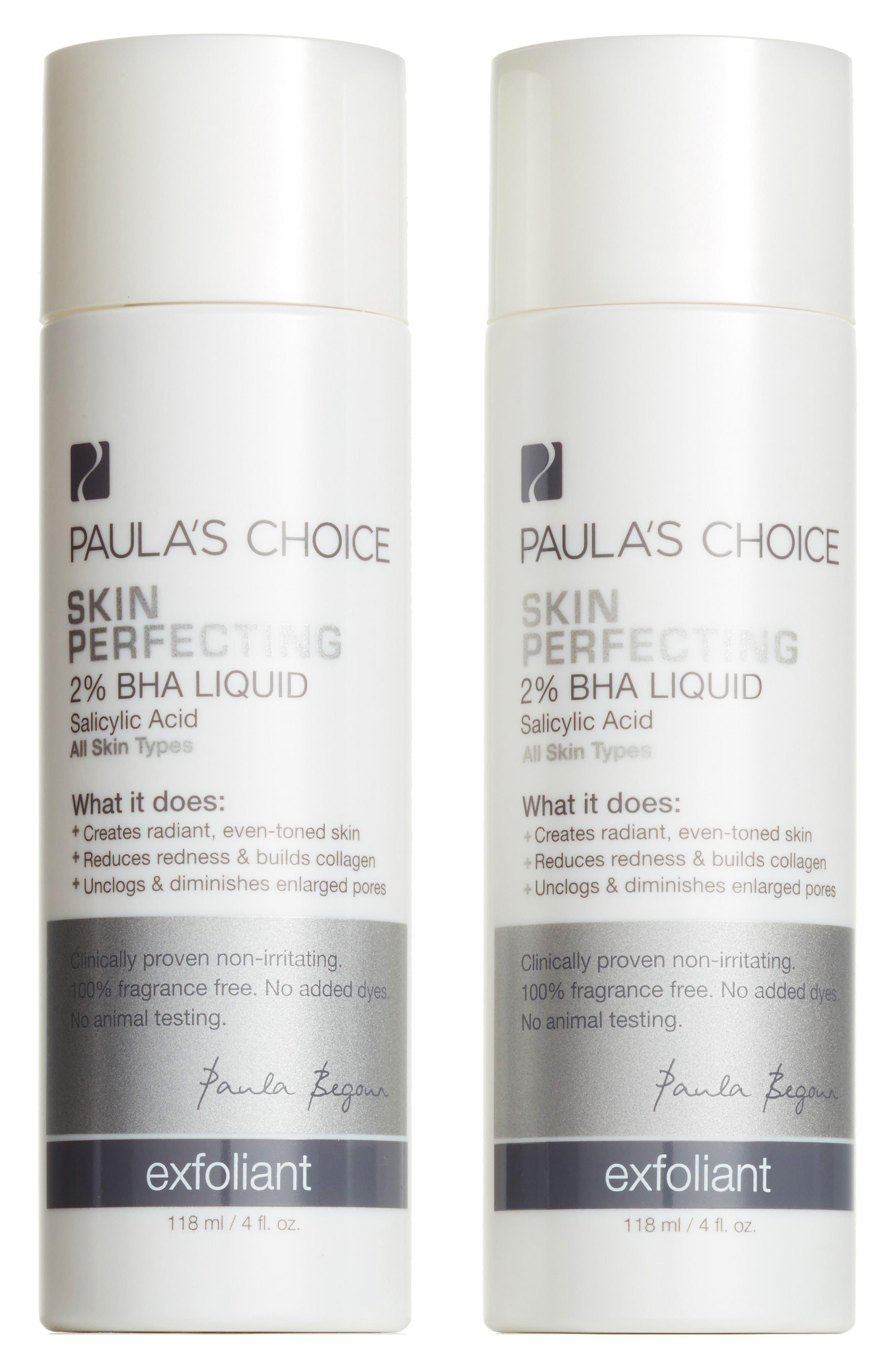 Skin Perfecting 2% BHA Liquid Exfoliant Duo,                             Main thumbnail 1, color,                             000