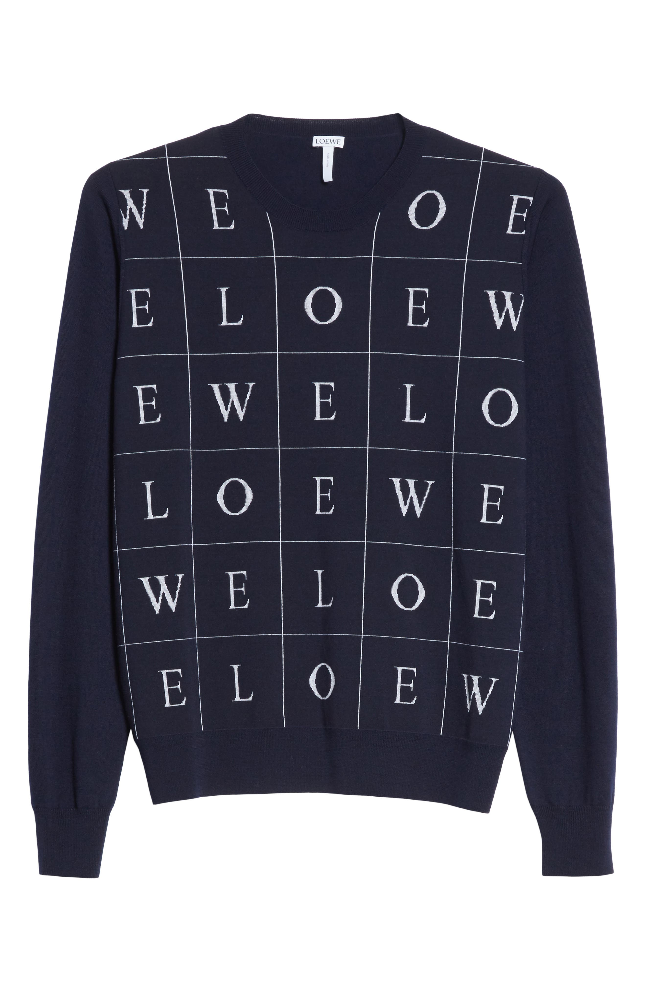 Letters Wool Sweater,                             Alternate thumbnail 6, color,                             410