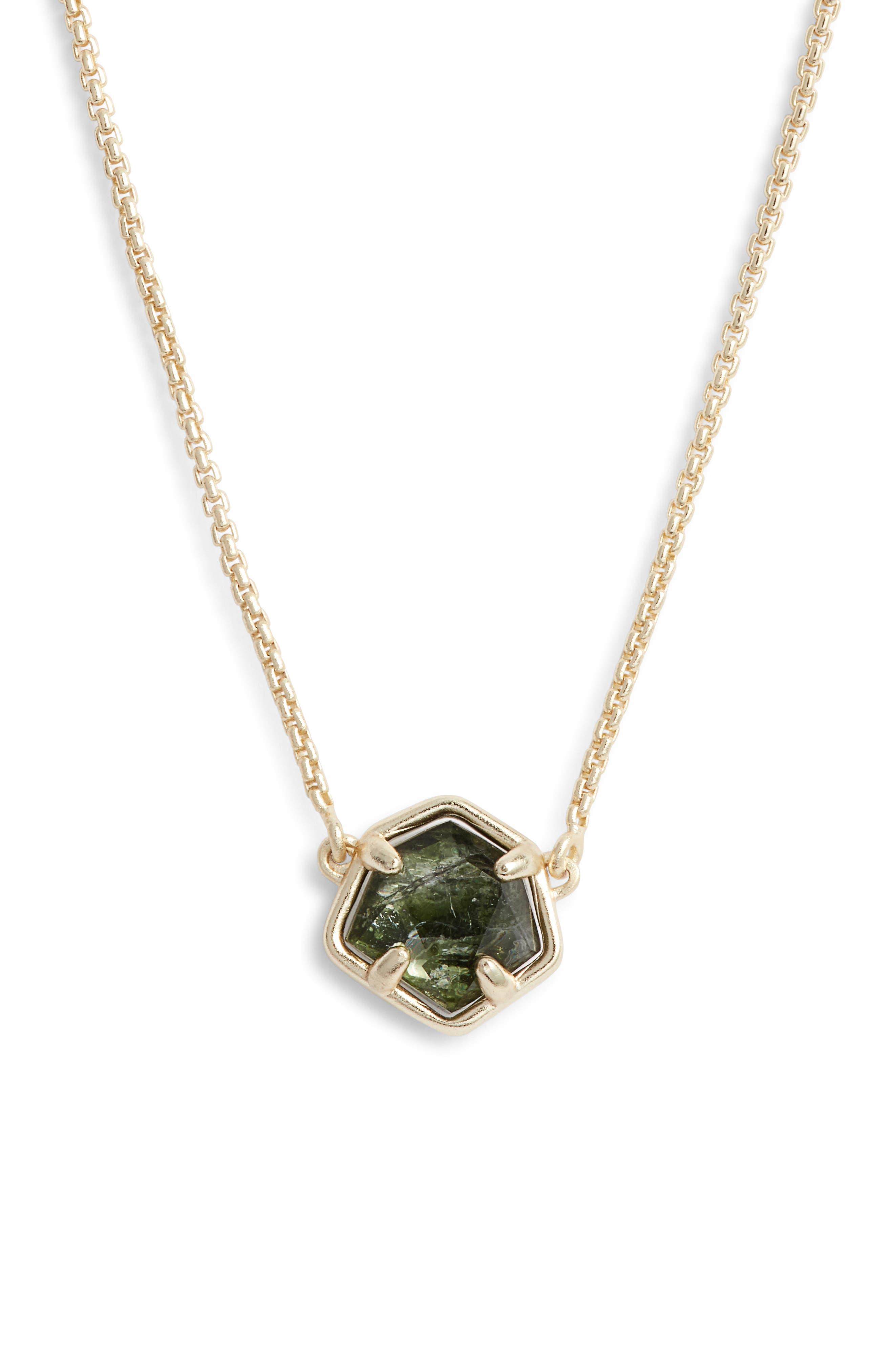 Jaxon Pendant Necklace,                             Main thumbnail 1, color,                             SAGE/ GOLD