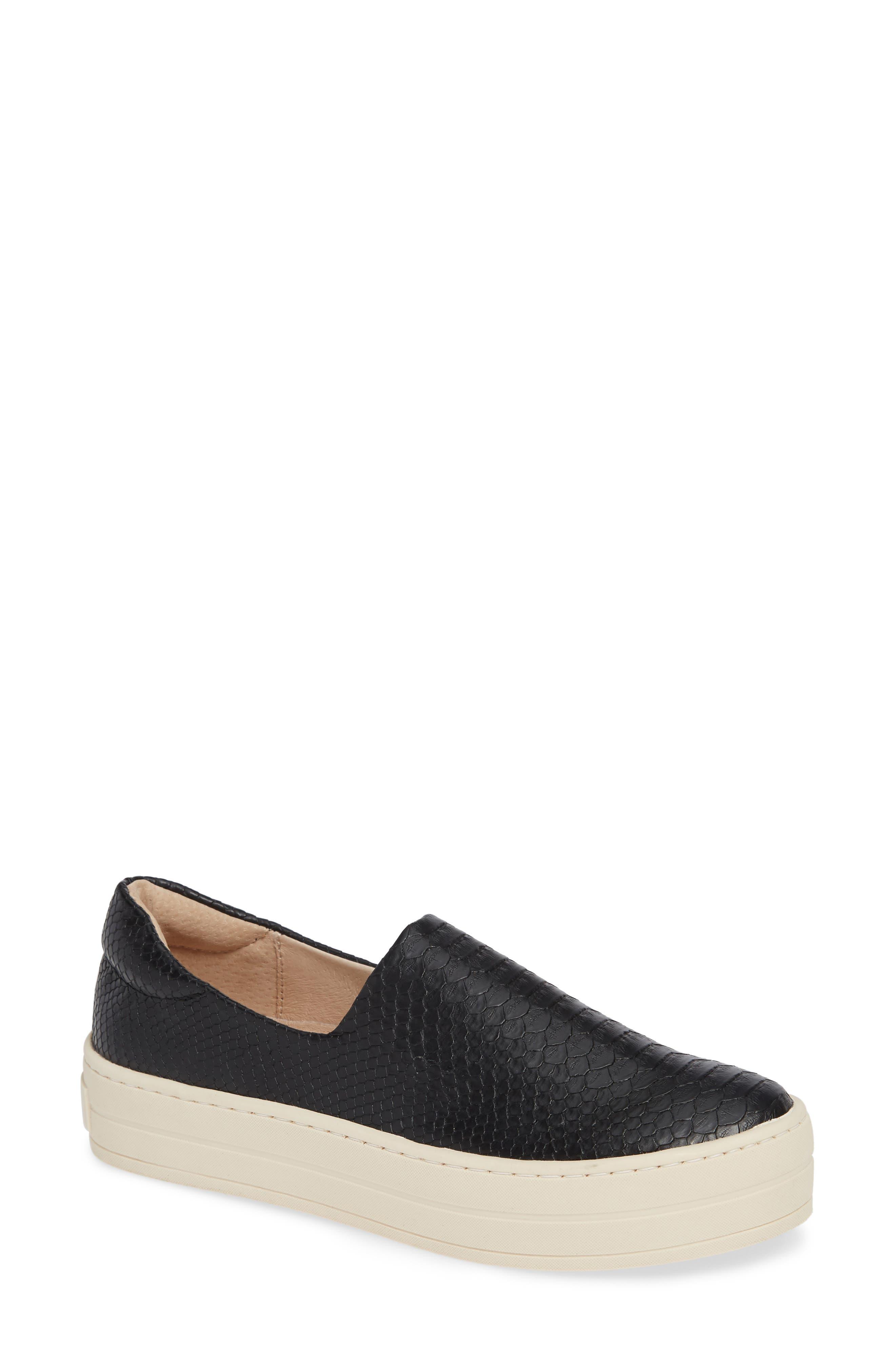 Jslides Harlow Slip-On Platform Sneaker, Black