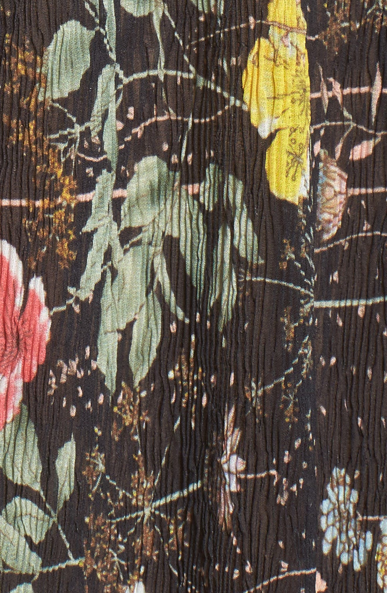 FOXIEDOX,                             Kinsey Print Gauze Midi Dress,                             Alternate thumbnail 5, color,                             009