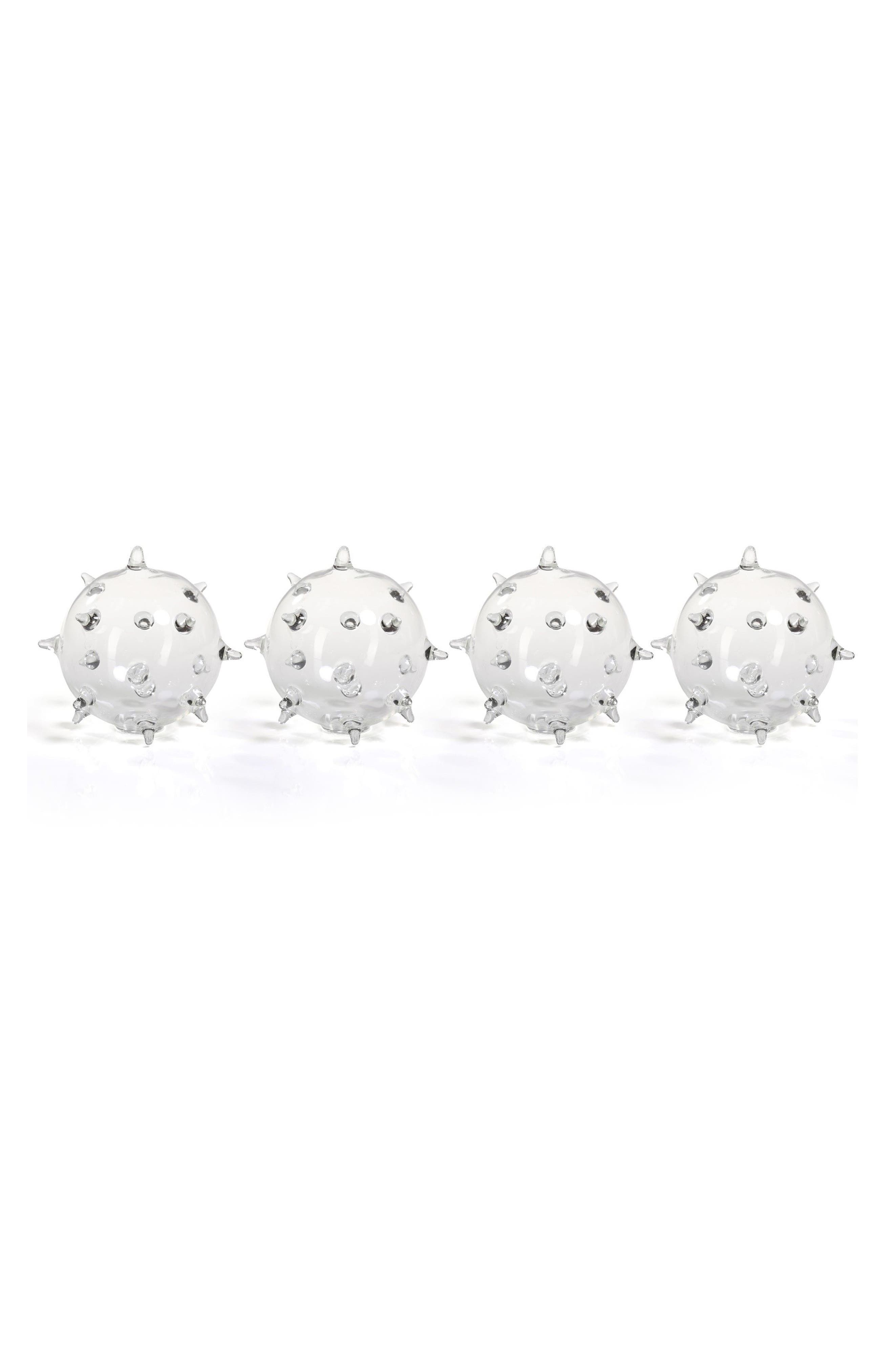 Suri Set of 4 Spiked Glass Vases,                         Main,                         color,
