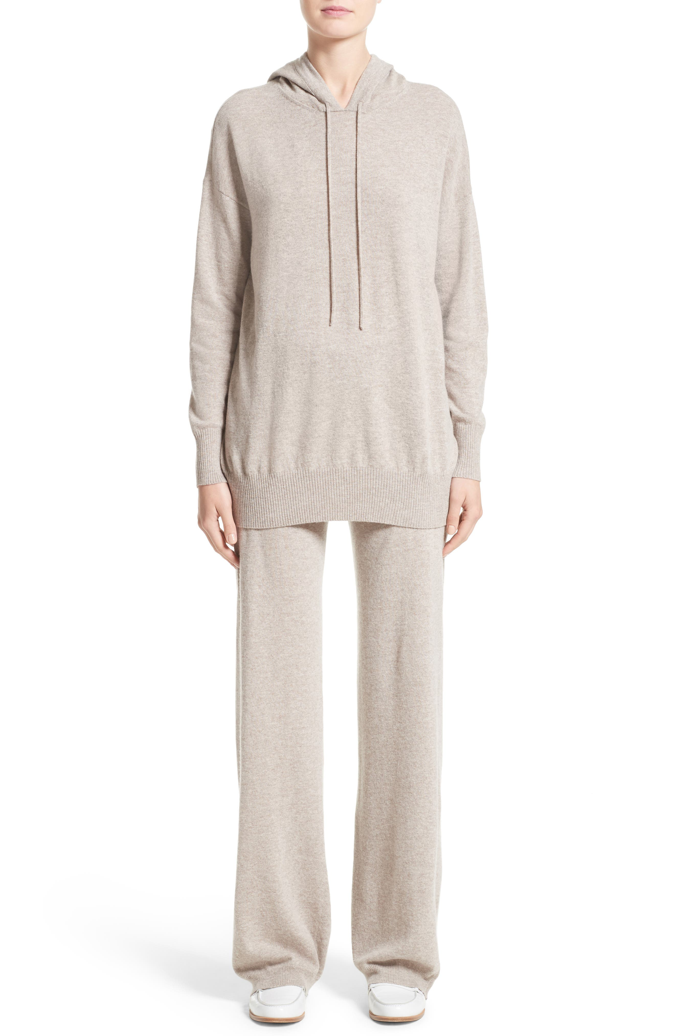 Nitra Wool & Cashmere Hooded Sweater,                             Alternate thumbnail 6, color,                             236
