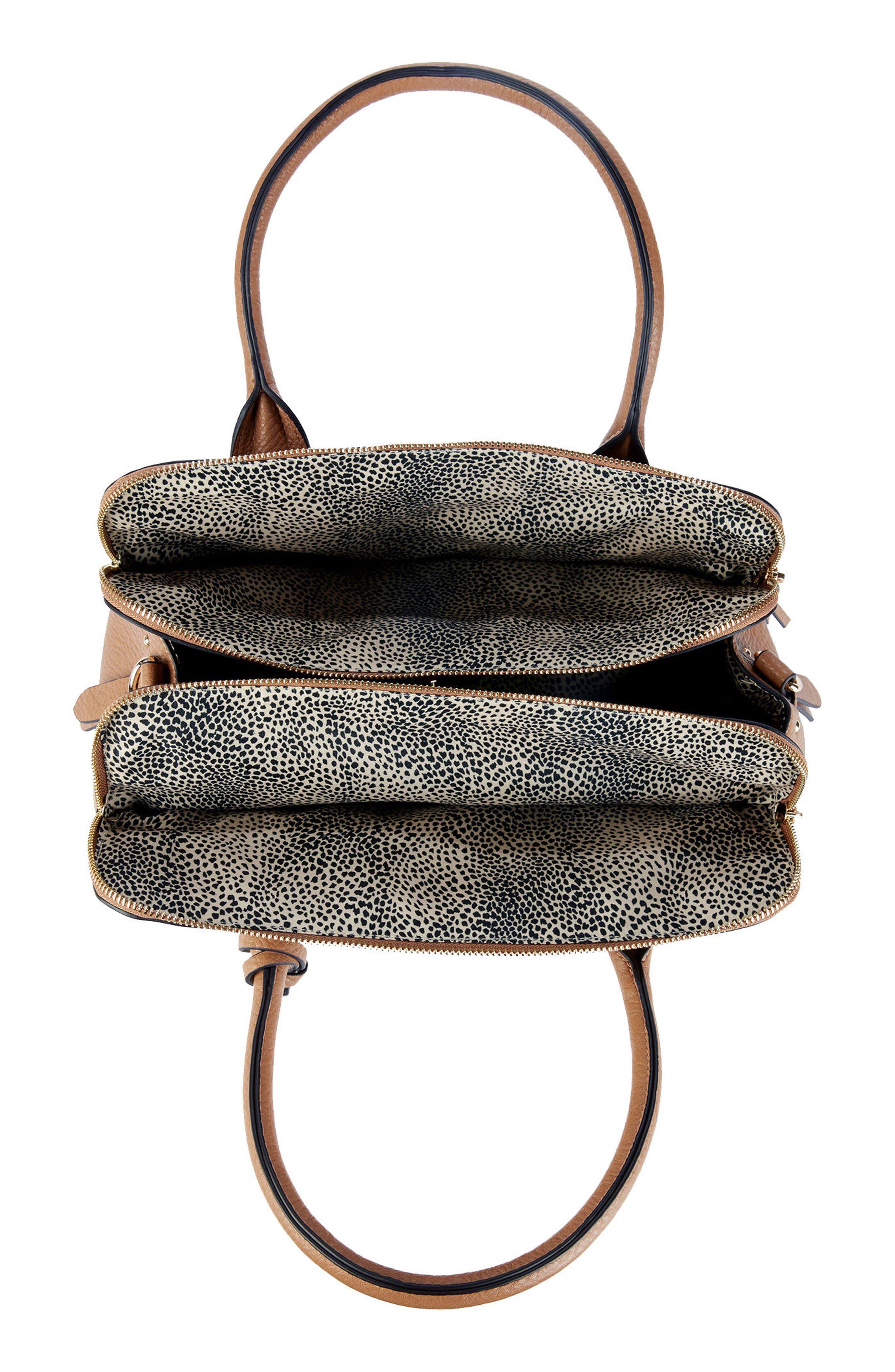 Nera Faux Leather Satchel,                             Alternate thumbnail 3, color,                             230