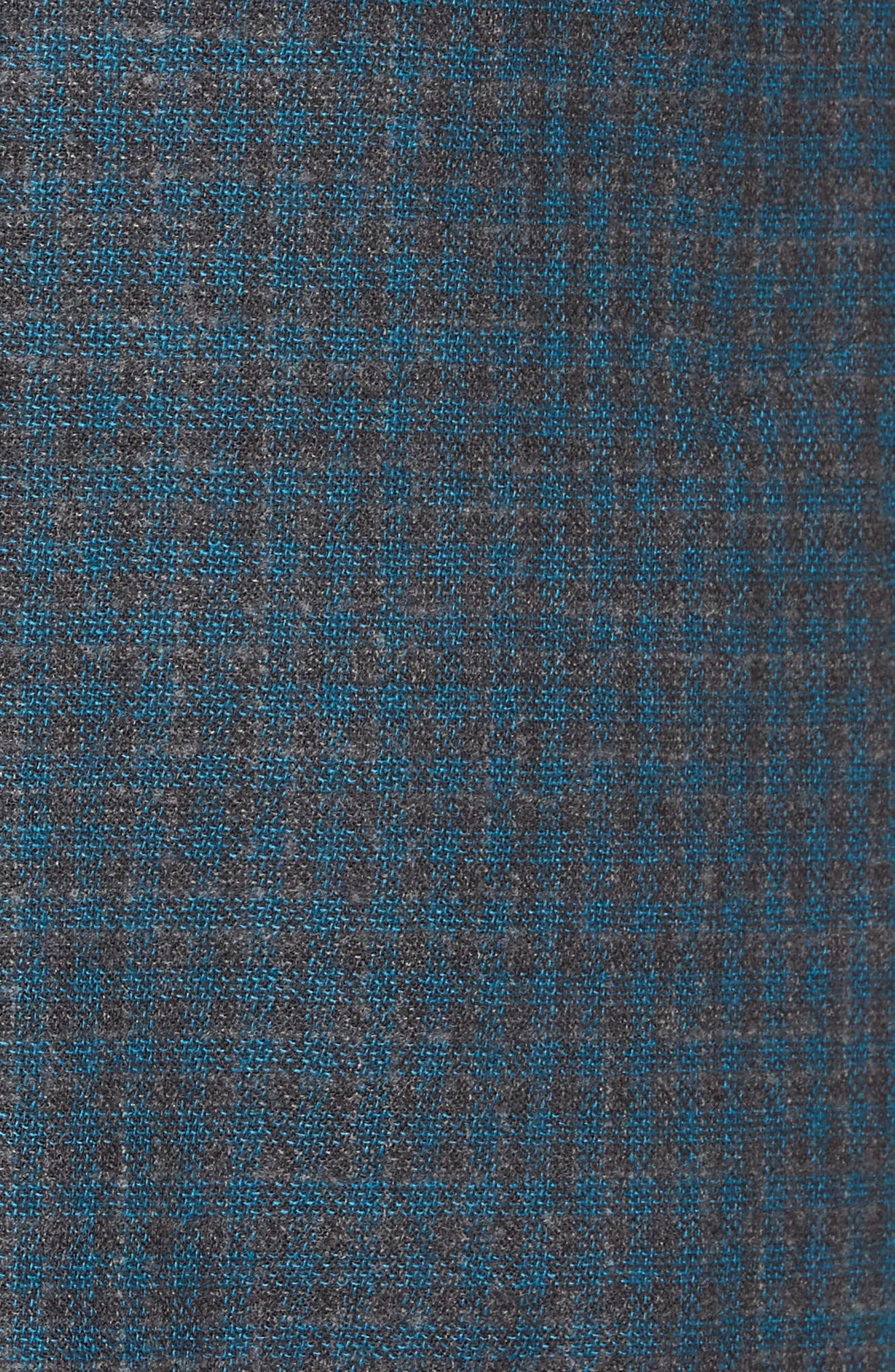 Jetsetter Slim Fit Unconstructed Blazer,                             Alternate thumbnail 6, color,                             TEAL AND GREY PLAID