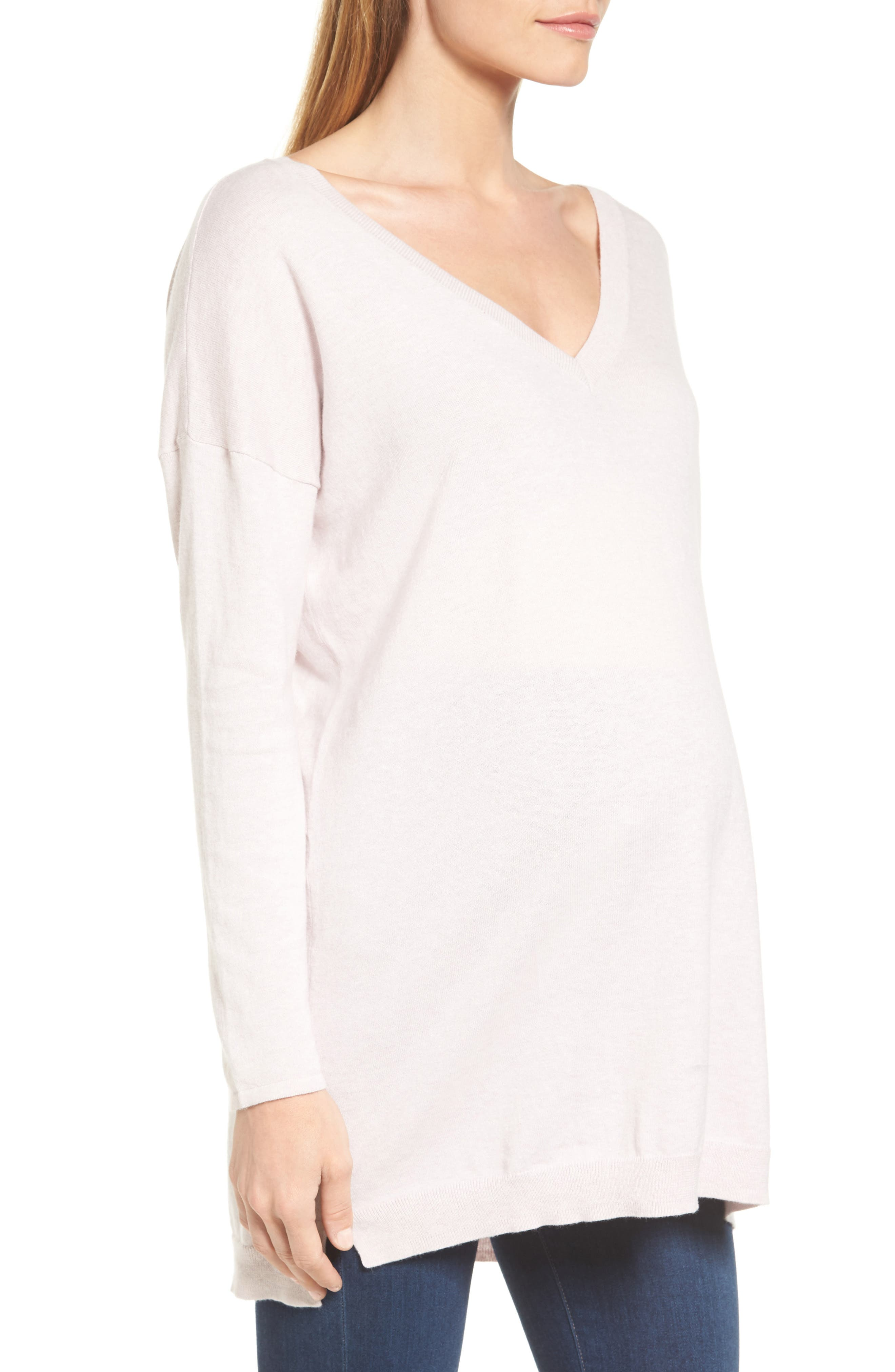 Abella Maternity Sweater,                             Alternate thumbnail 3, color,                             680