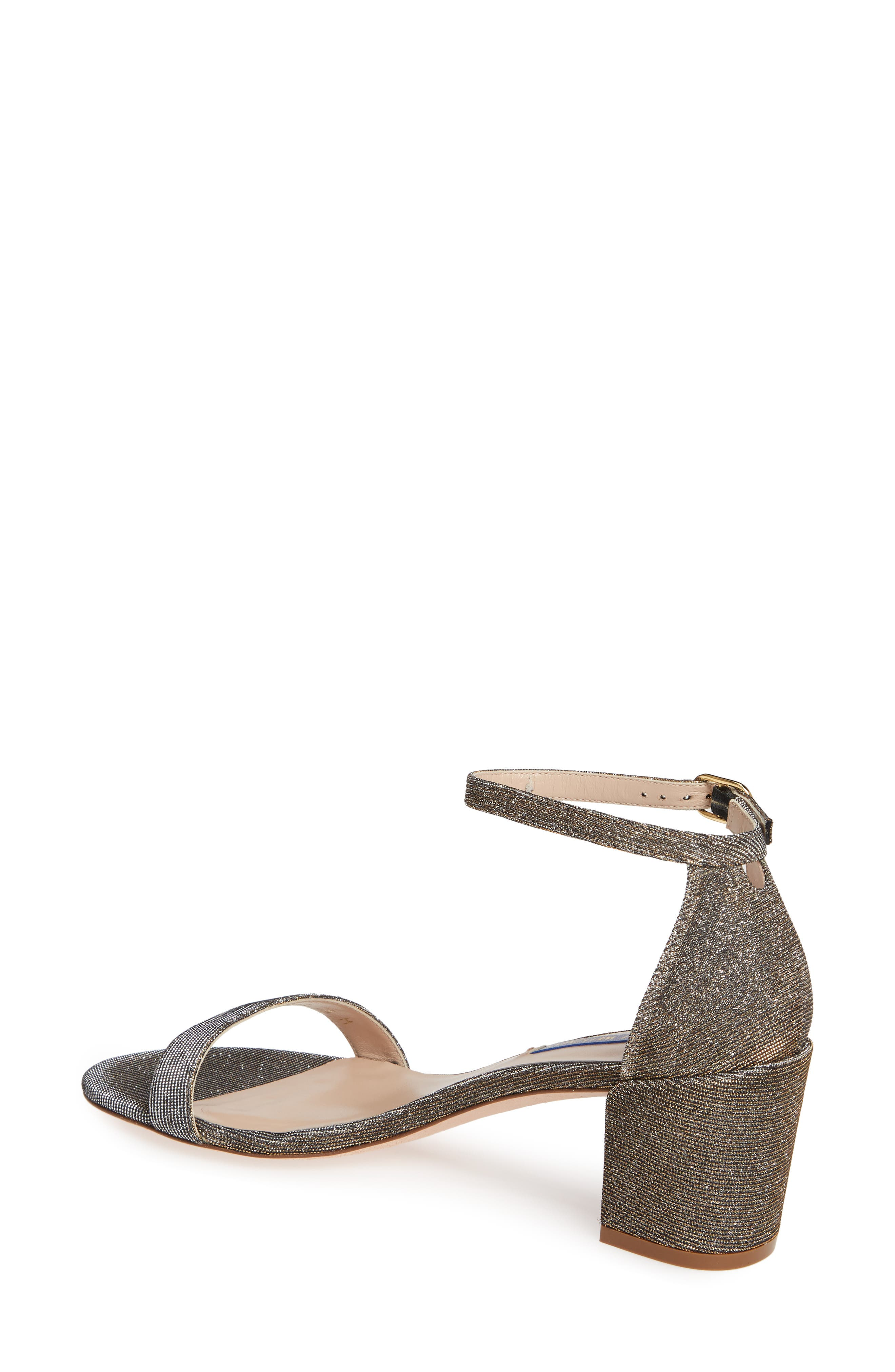 STUART WEITZMAN,                             Simple Ankle Strap Sandal,                             Alternate thumbnail 2, color,                             GOLD NIGHTTIME