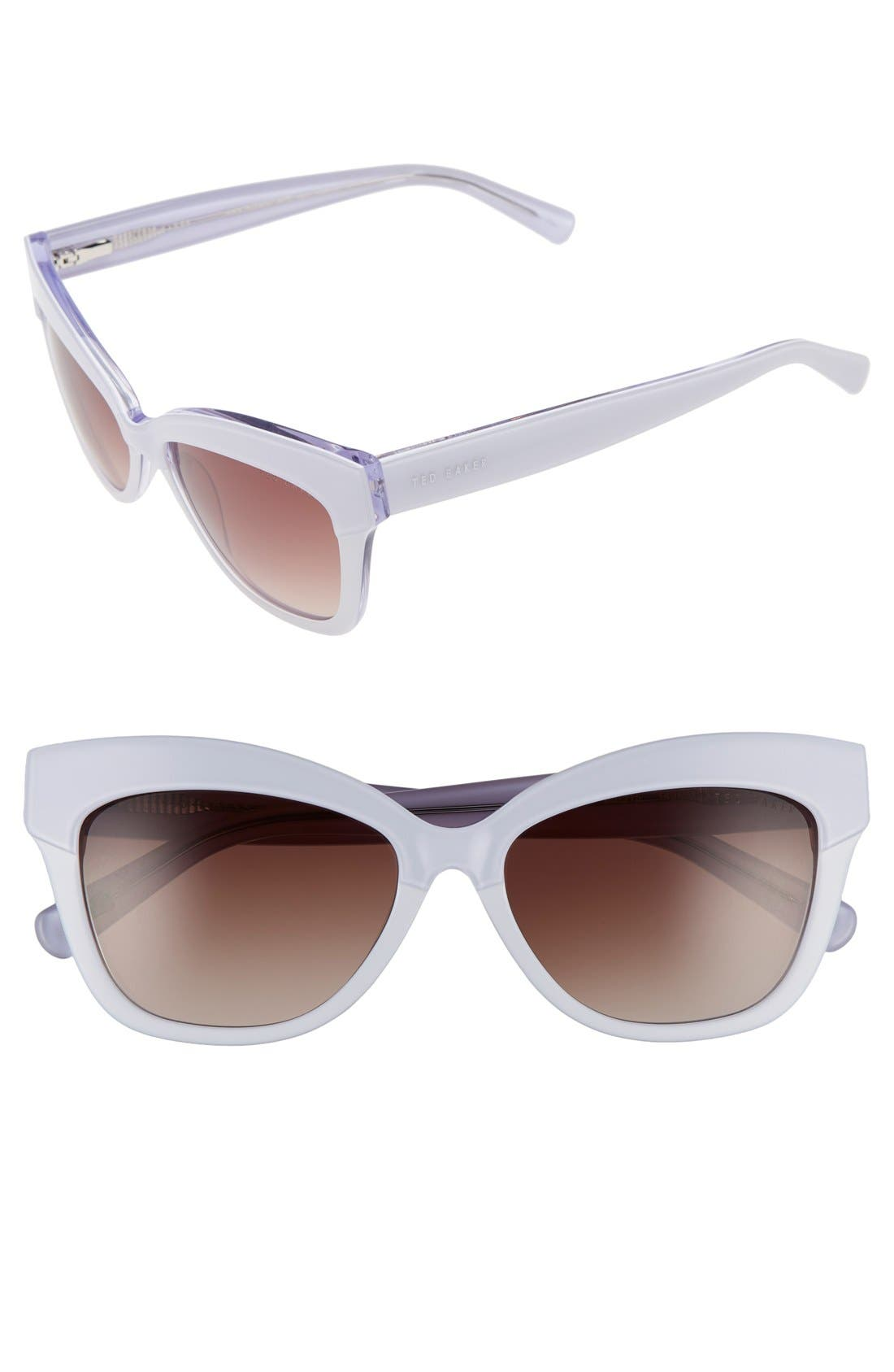 55mm Cat Eye Sunglasses,                             Main thumbnail 1, color,                             100