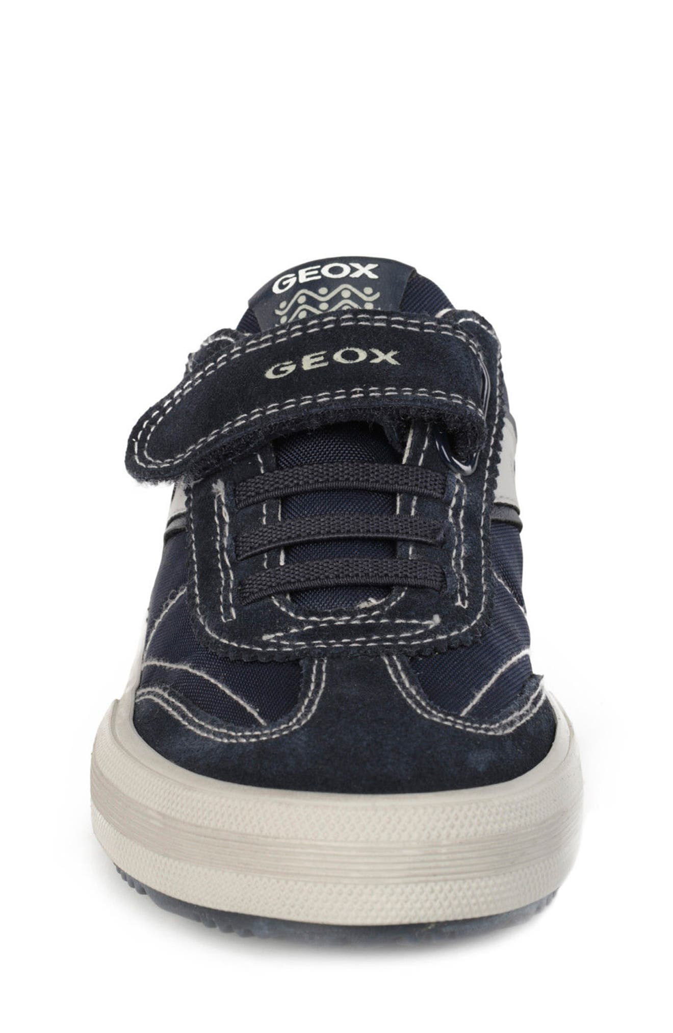 Alonisso Low Top Sneaker,                             Alternate thumbnail 4, color,                             NAVY/ GREY