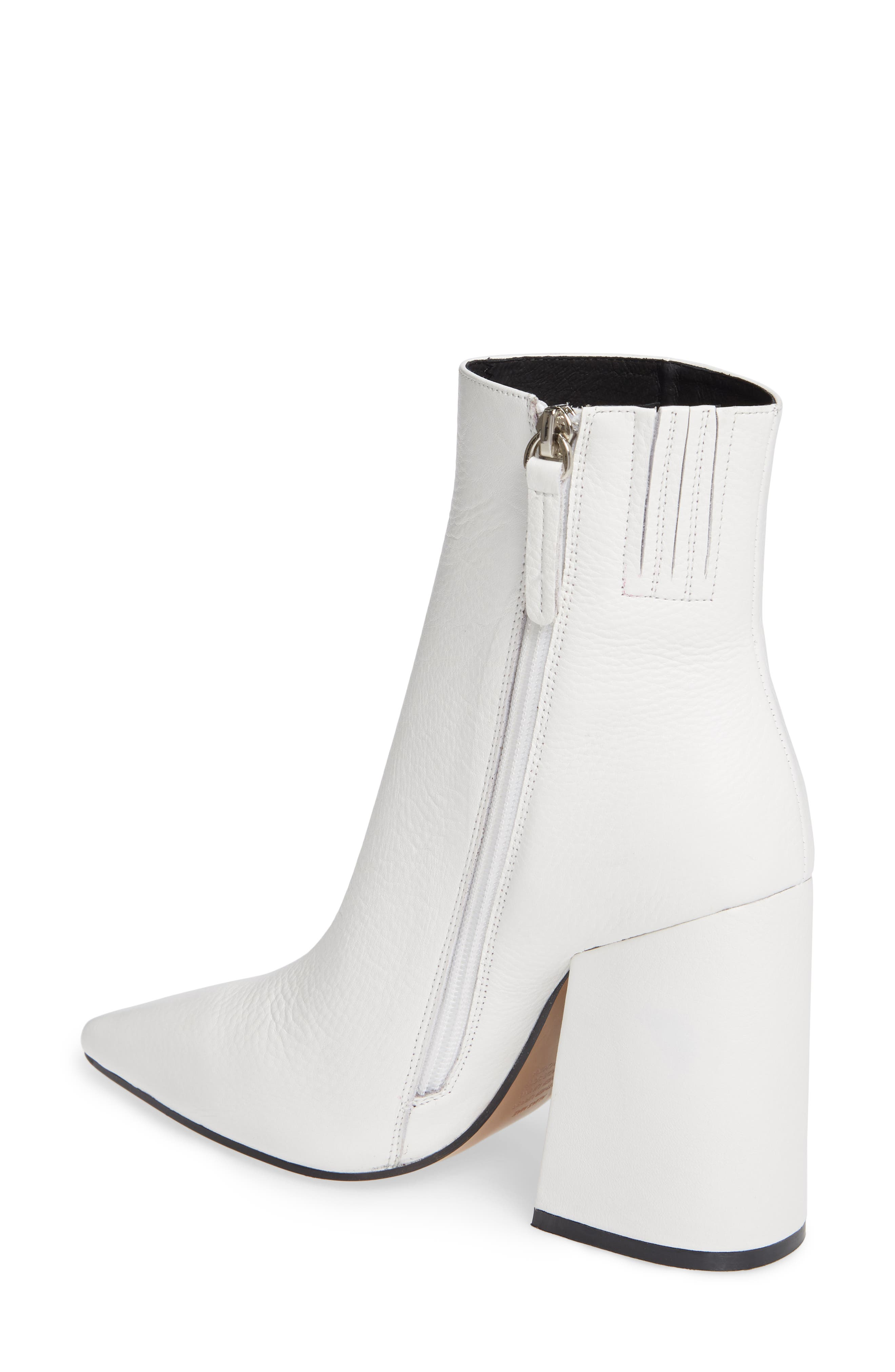 Ahara Bootie,                             Alternate thumbnail 2, color,                             WHITE LEATHER