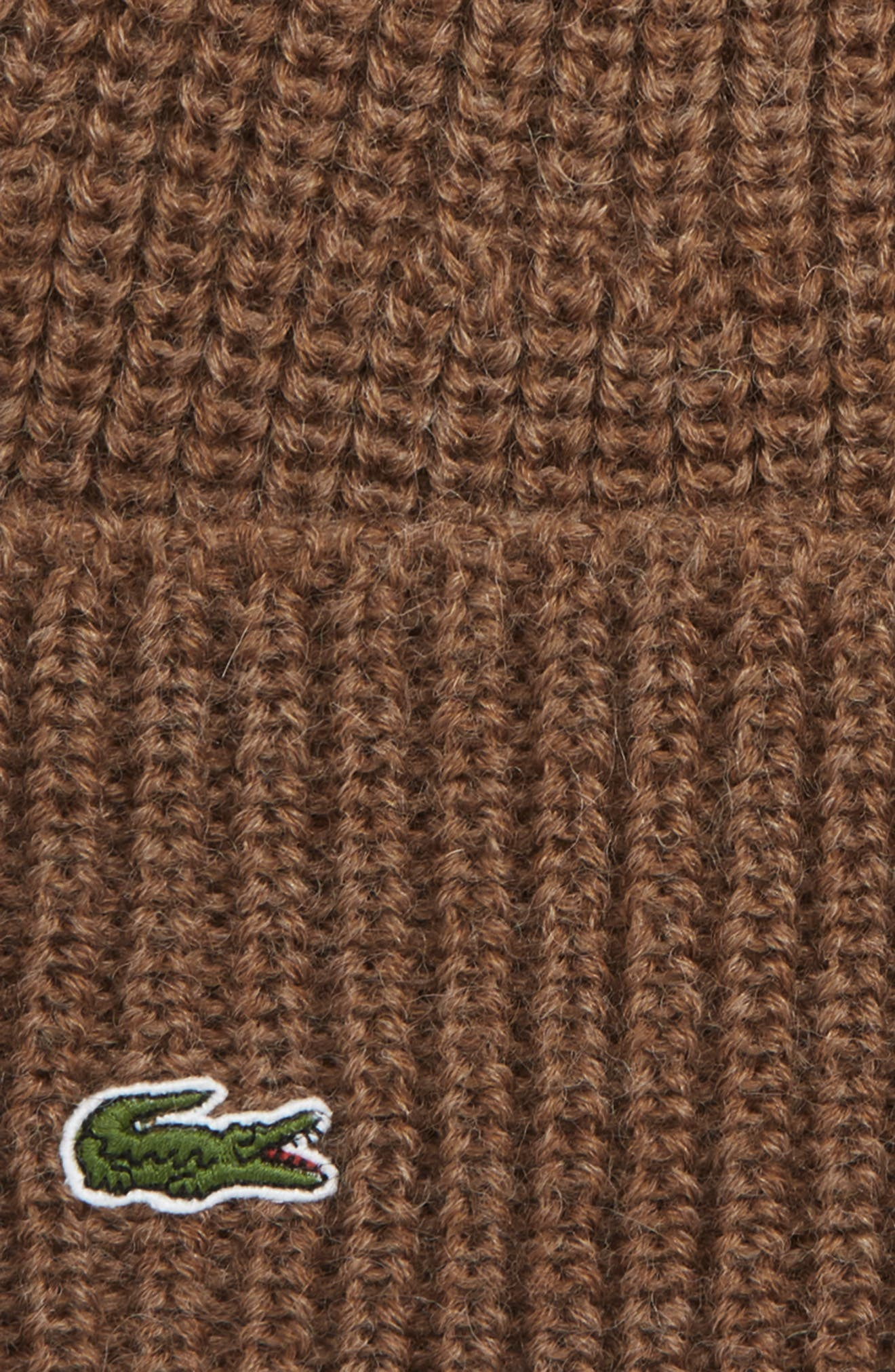 Ribbed Wool Beanie,                             Alternate thumbnail 2, color,                             DARK RENAISSANCE BROWN