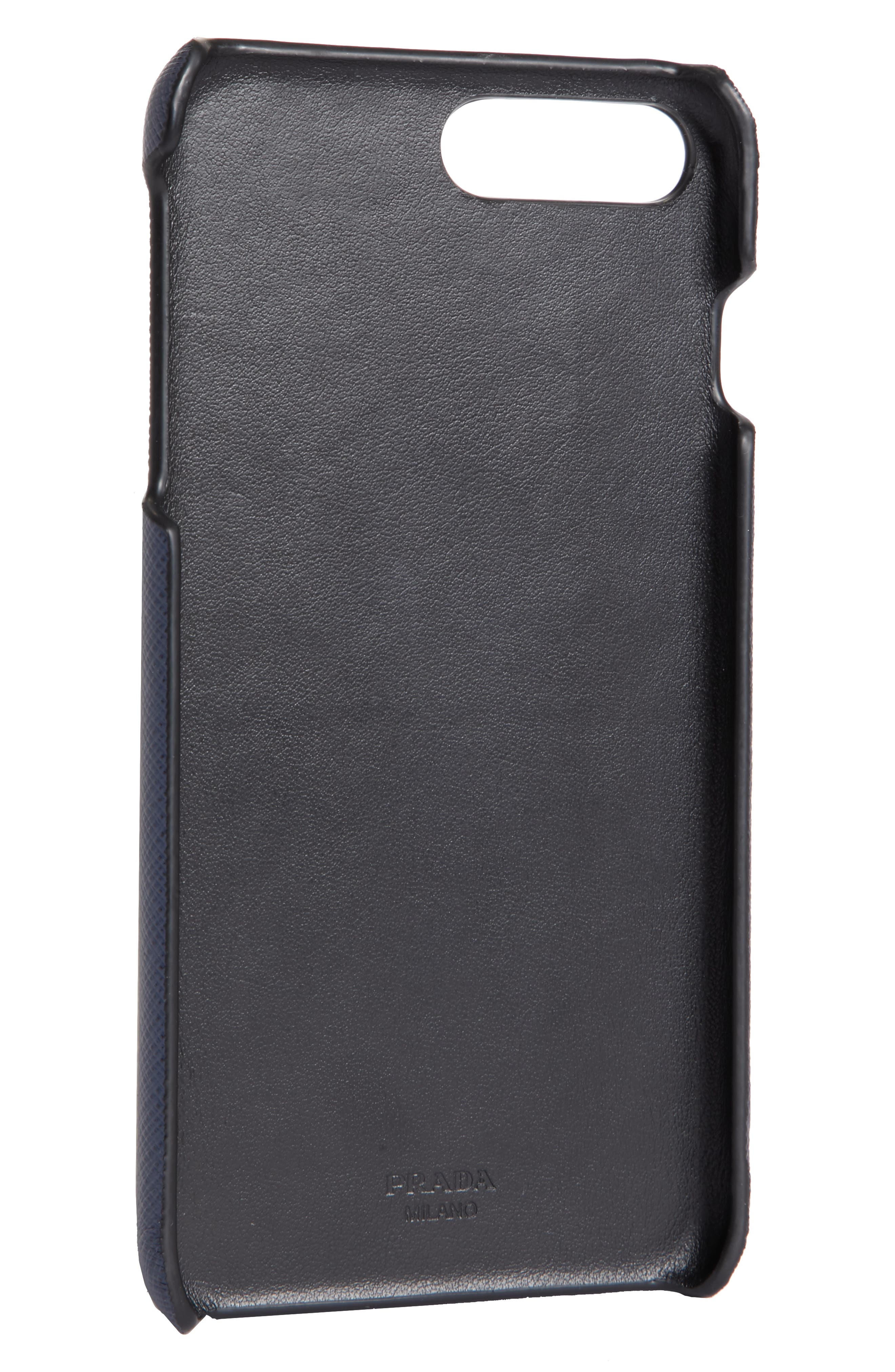 Saffiano Leather iPhone 8 Case,                             Alternate thumbnail 2, color,                             BALTICO