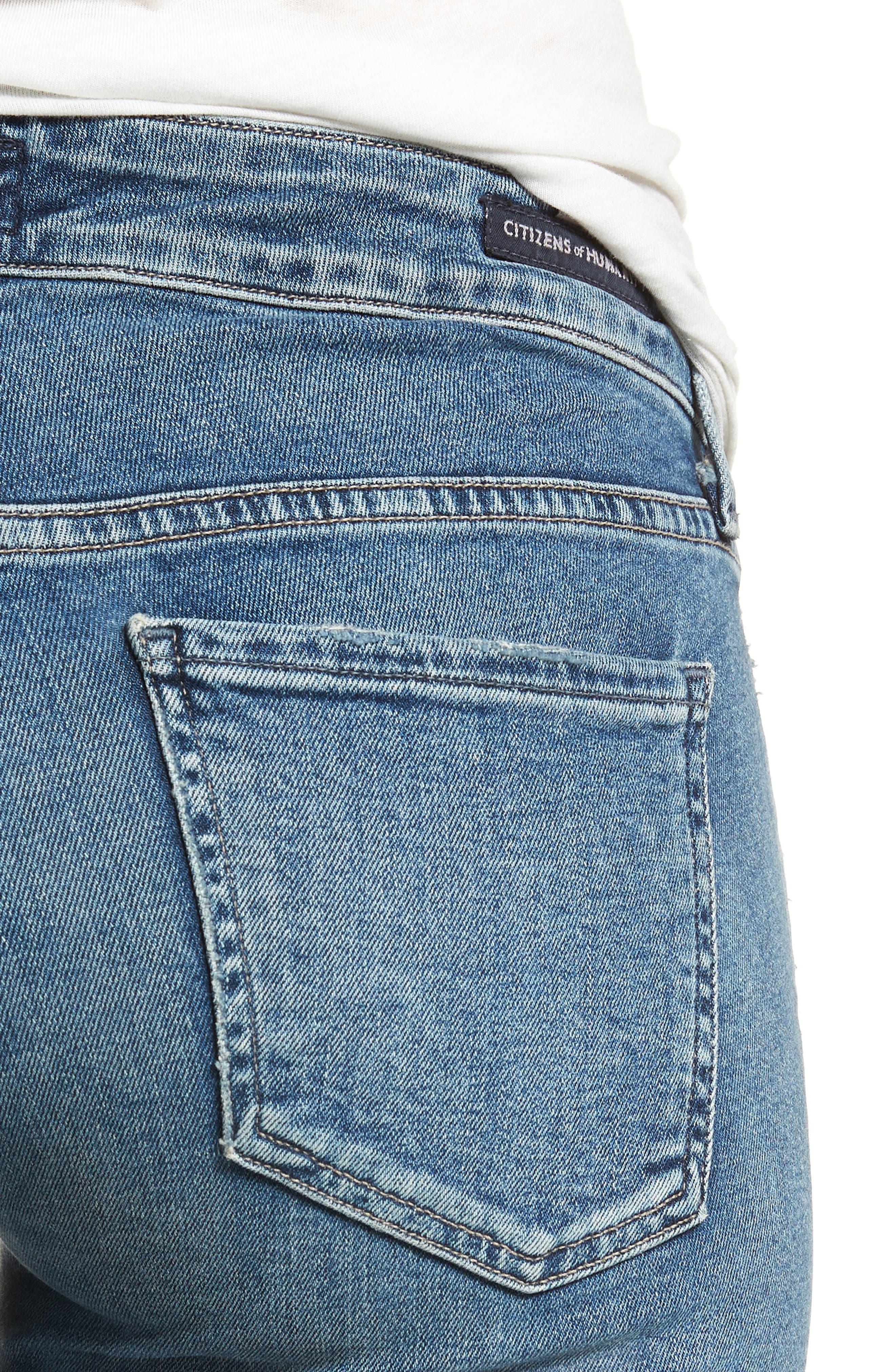 Racer Skinny Jeans,                             Alternate thumbnail 4, color,                             462