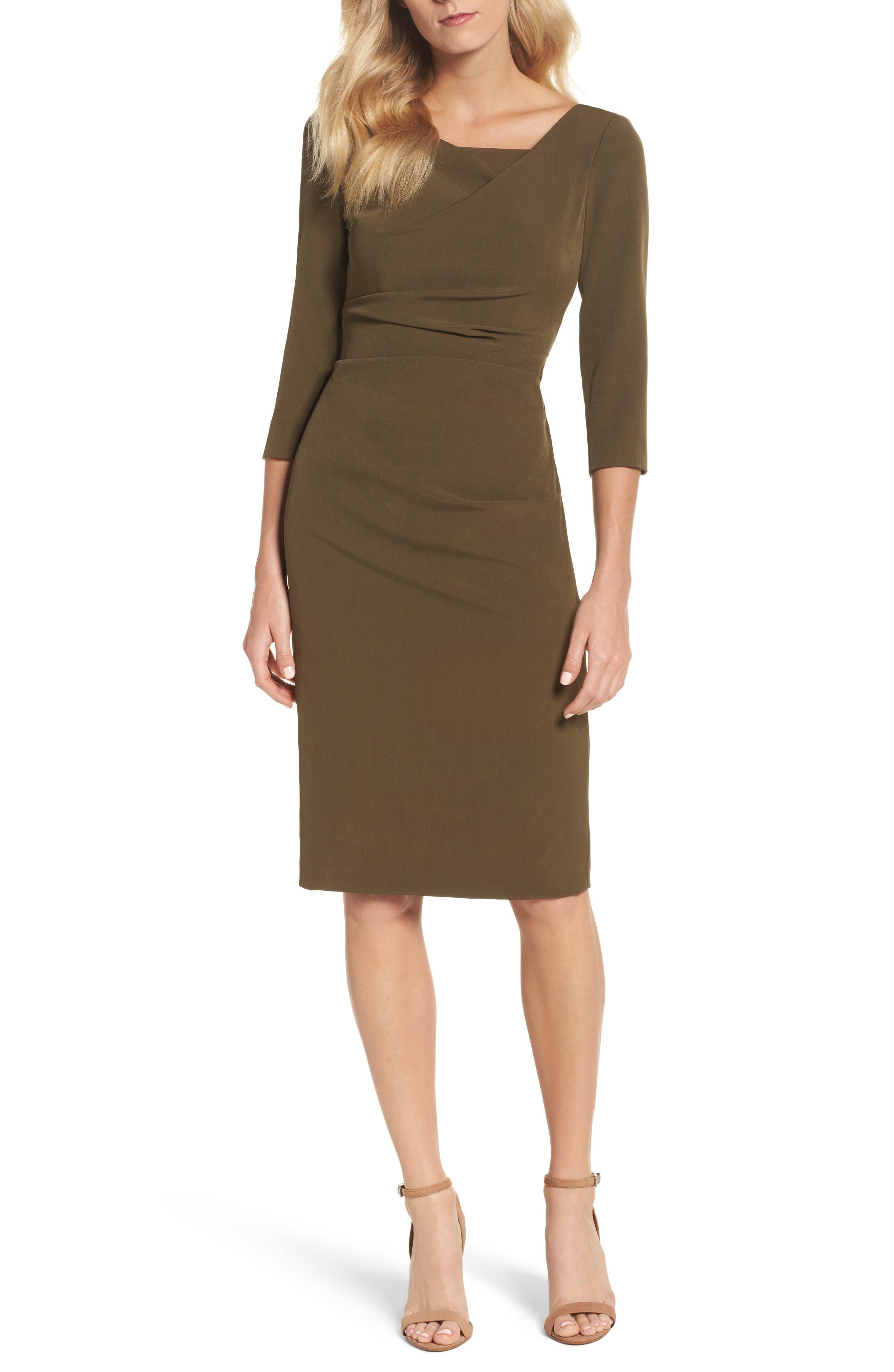 Drape Neck Midi Dress,                             Main thumbnail 1, color,                             371