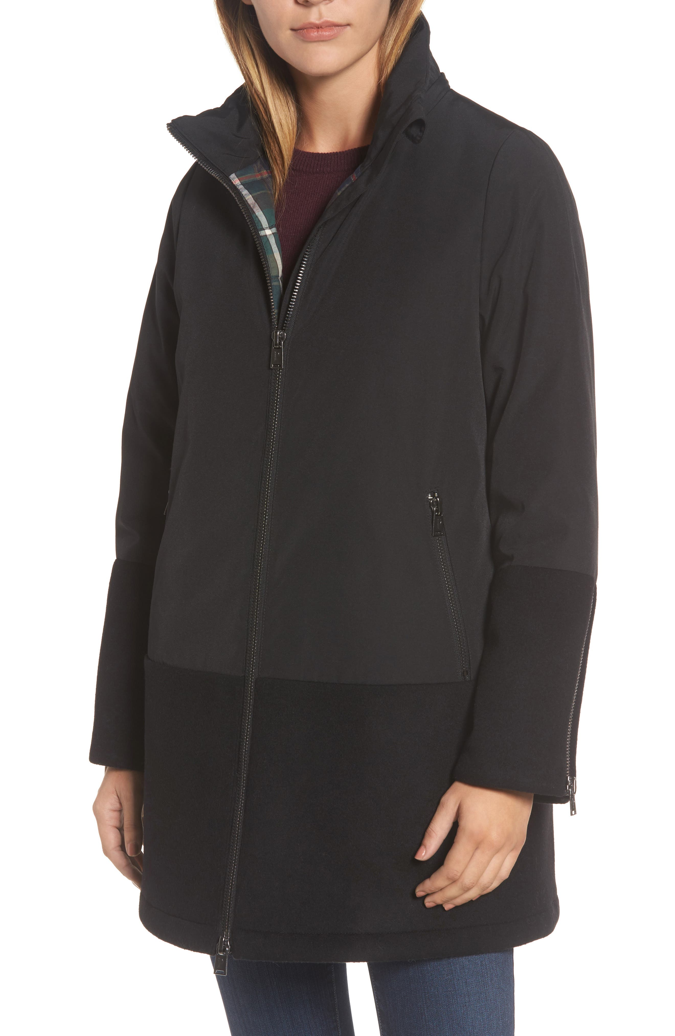 Bellevue Down & Feather Fill Parka,                             Alternate thumbnail 4, color,                             001