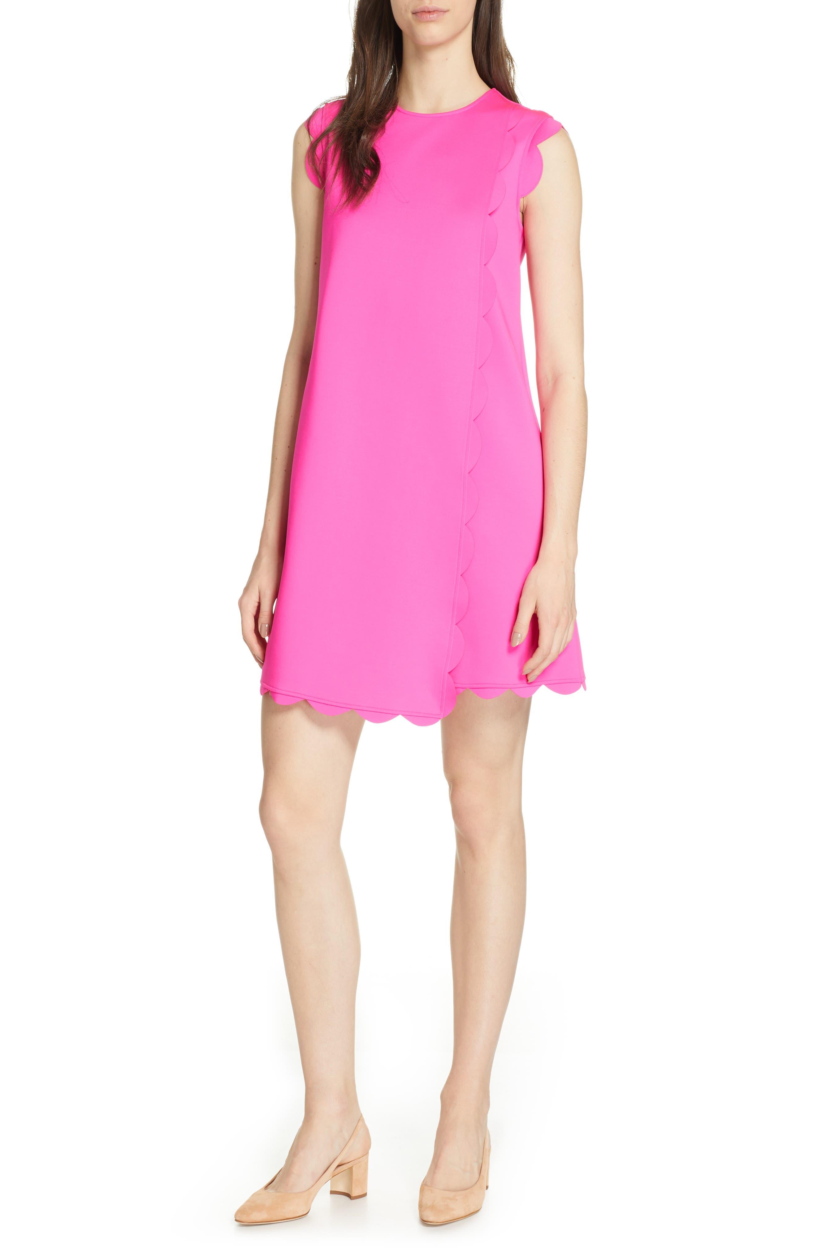 Ted Baker London Fresh Start Scalloped Swing Dress, Pink