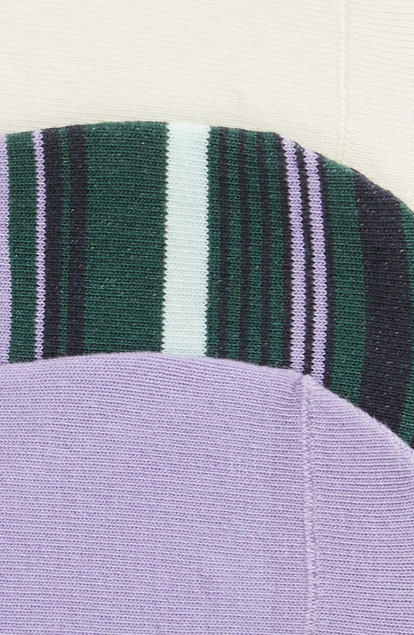 NORDSTROM,                             3-Pack No-Show Liner Socks,                             Alternate thumbnail 2, color,                             PURPLE MITTEN MULTI
