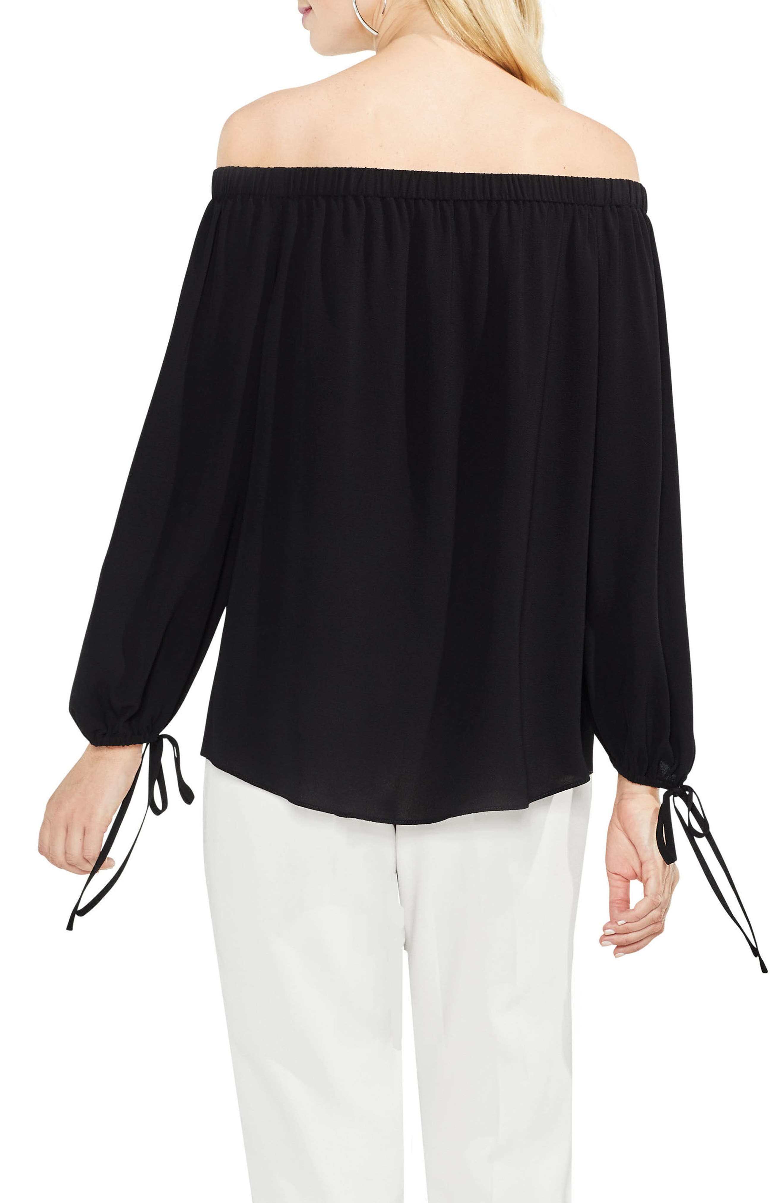 Tie-Cuff Off the Shoulder Blouse,                             Alternate thumbnail 2, color,                             006