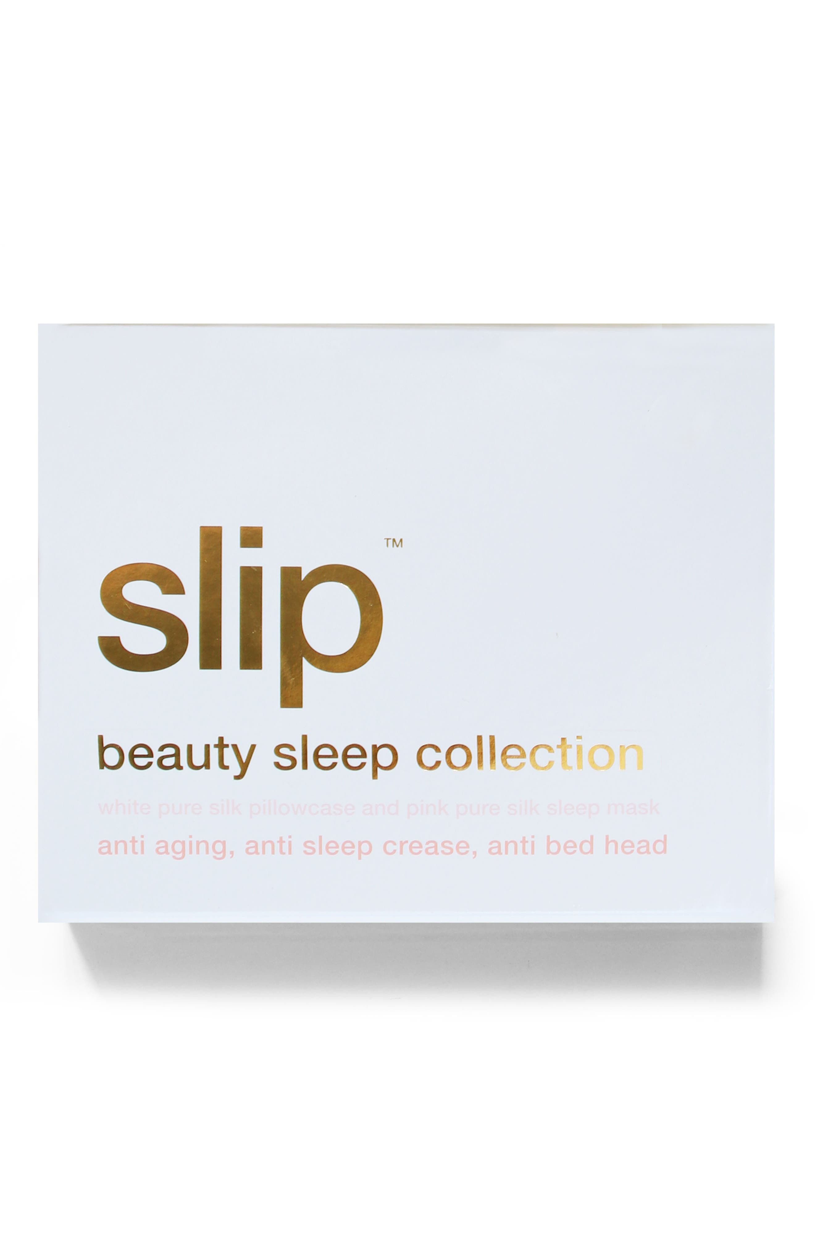 slip<sup>™</sup> for beauty sleep White & Pink Collection,                             Alternate thumbnail 3, color,                             WHITE/PINK