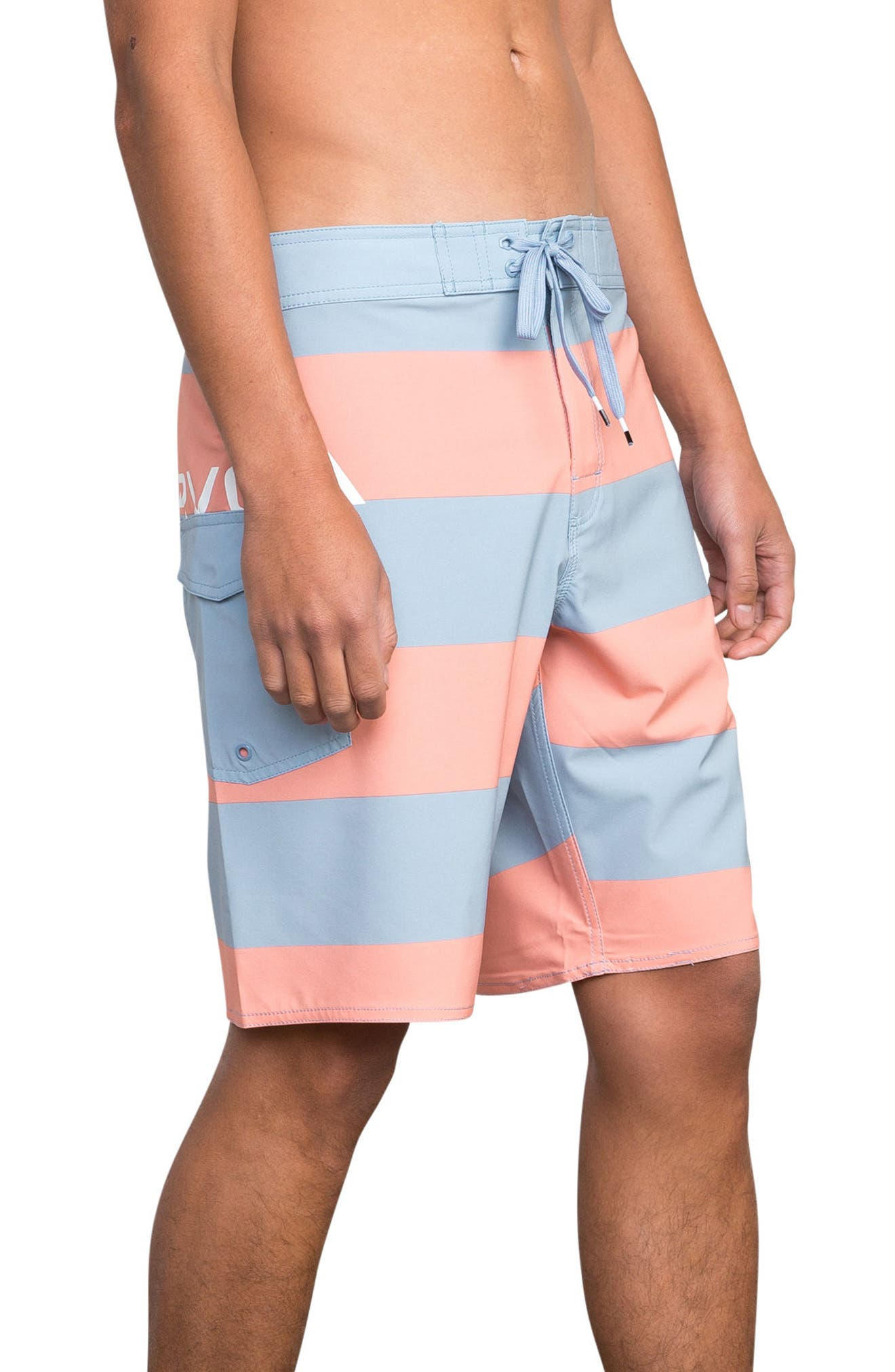 Uncivil Stripe Board Shorts,                             Alternate thumbnail 3, color,                             219