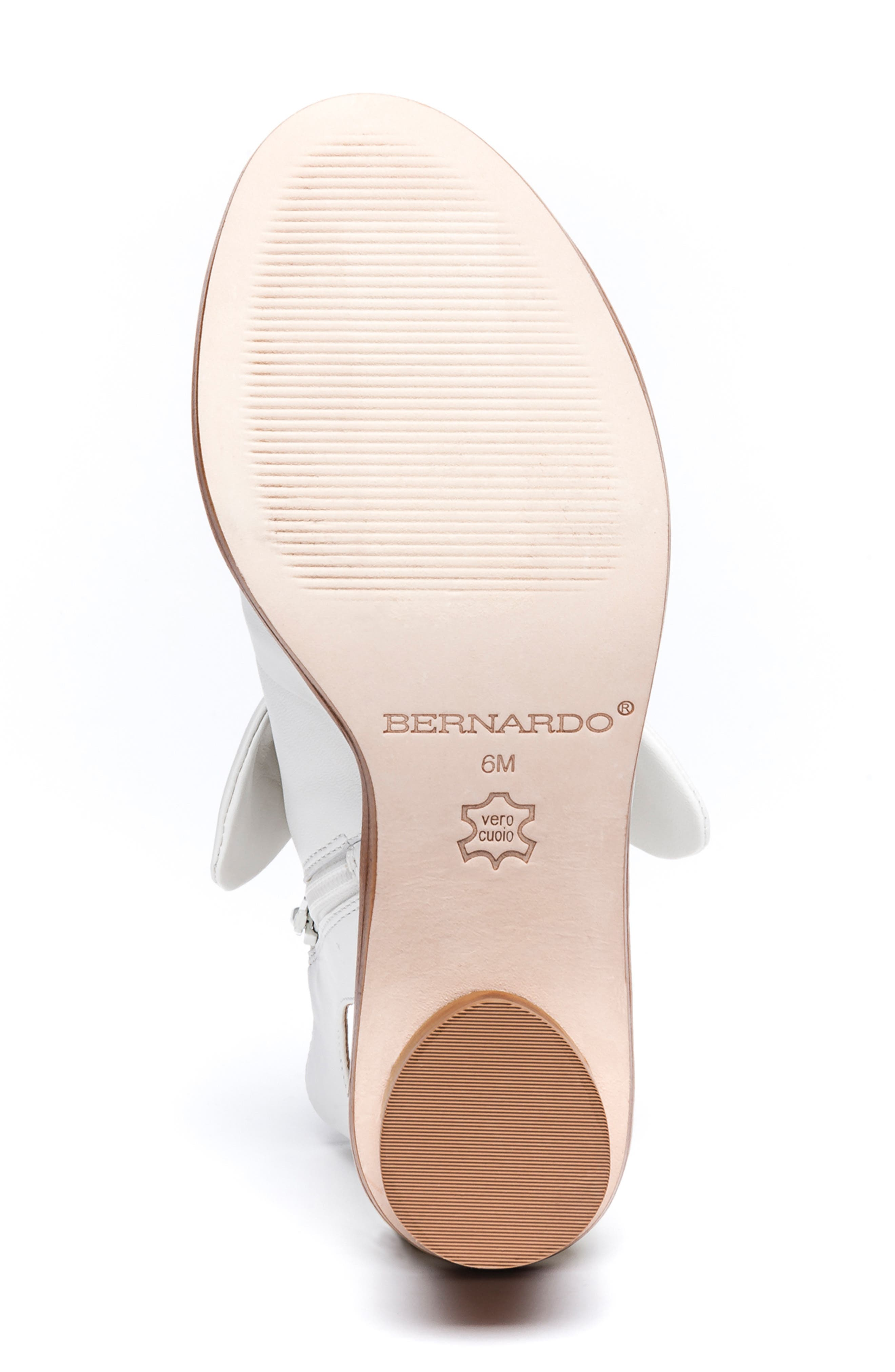 Bernardo Luna Sandal,                             Alternate thumbnail 6, color,                             WHITE LEATHER