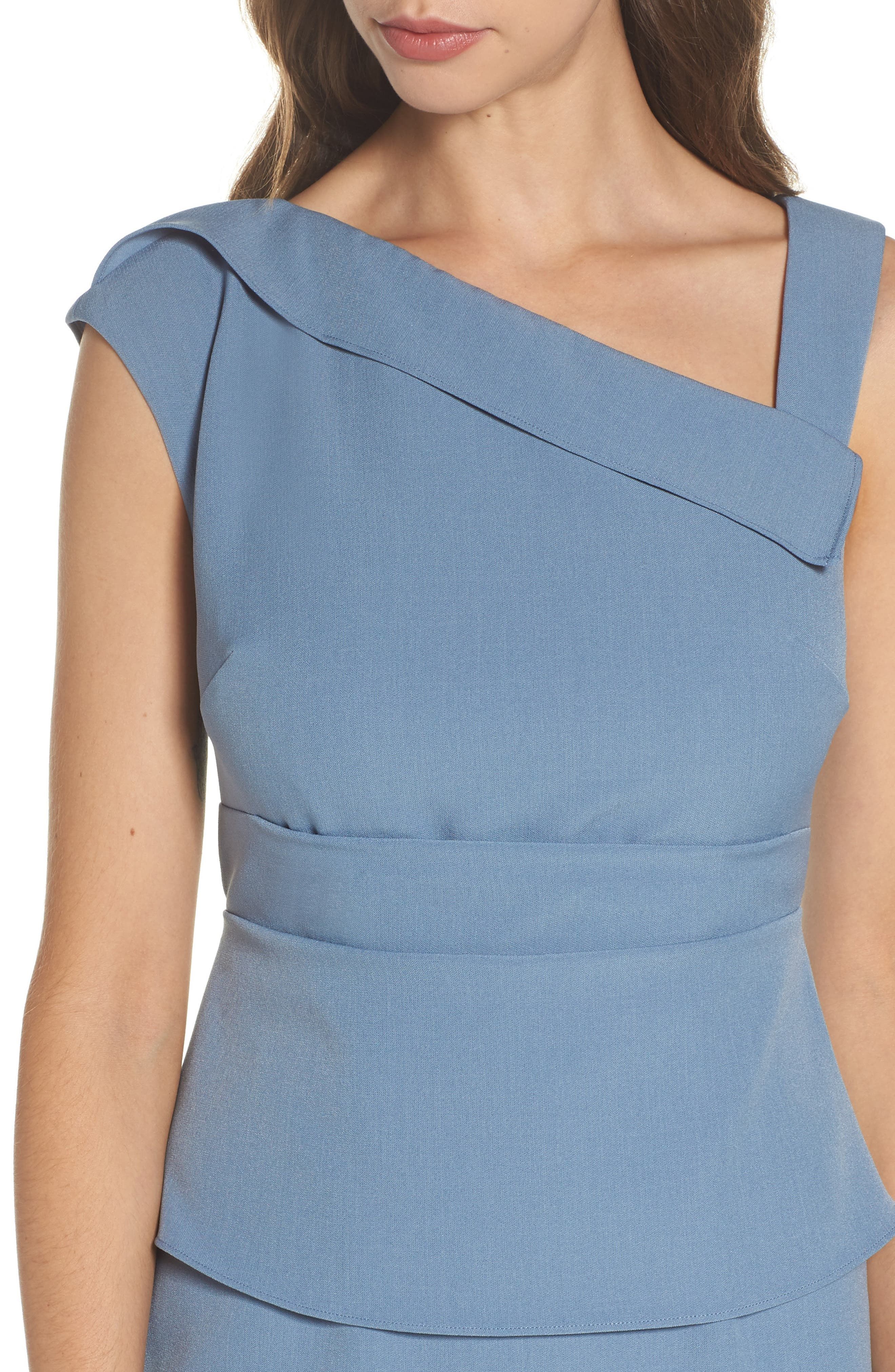 Crepe Sheath Dress,                             Alternate thumbnail 8, color,