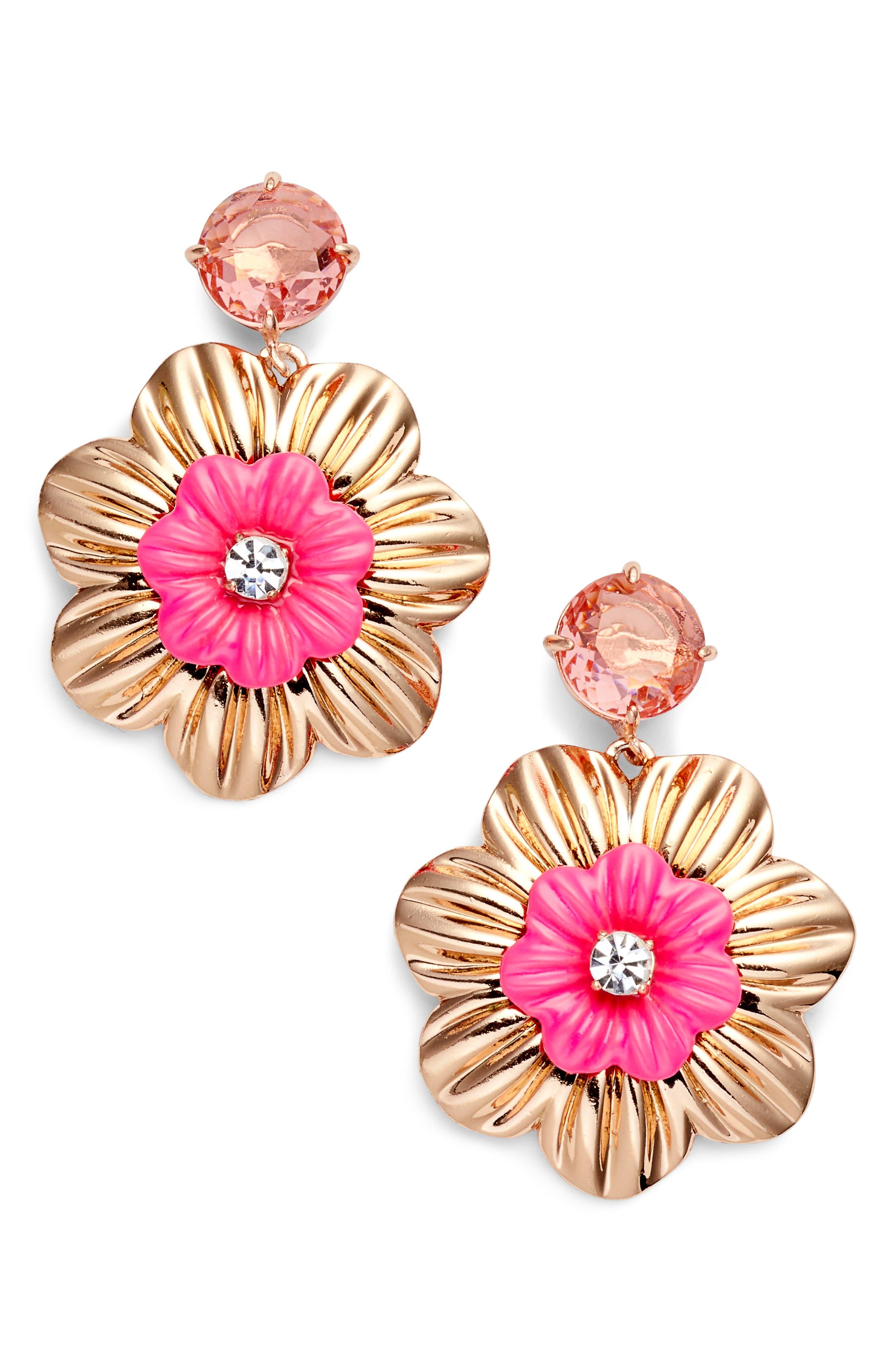posy grove drop earrings,                             Main thumbnail 1, color,