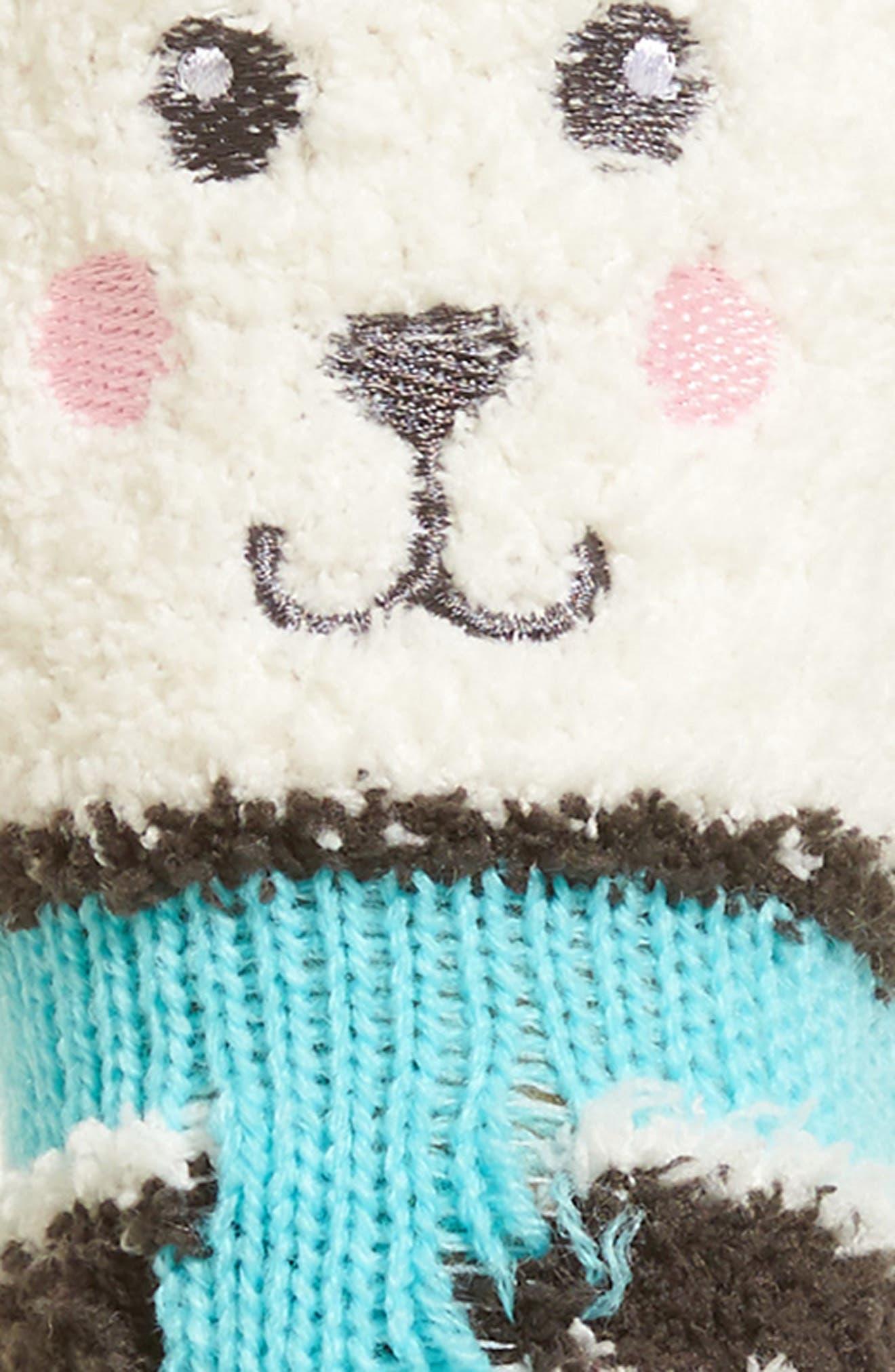 Stripe Plush Socks,                             Alternate thumbnail 3, color,                             020