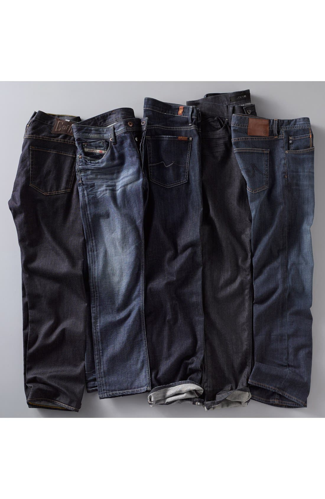7 FOR ALL MANKIND<SUP>®</SUP>,                             Austyn Relaxed Straight Leg Jeans,                             Alternate thumbnail 7, color,                             LOS ANGELES DARK