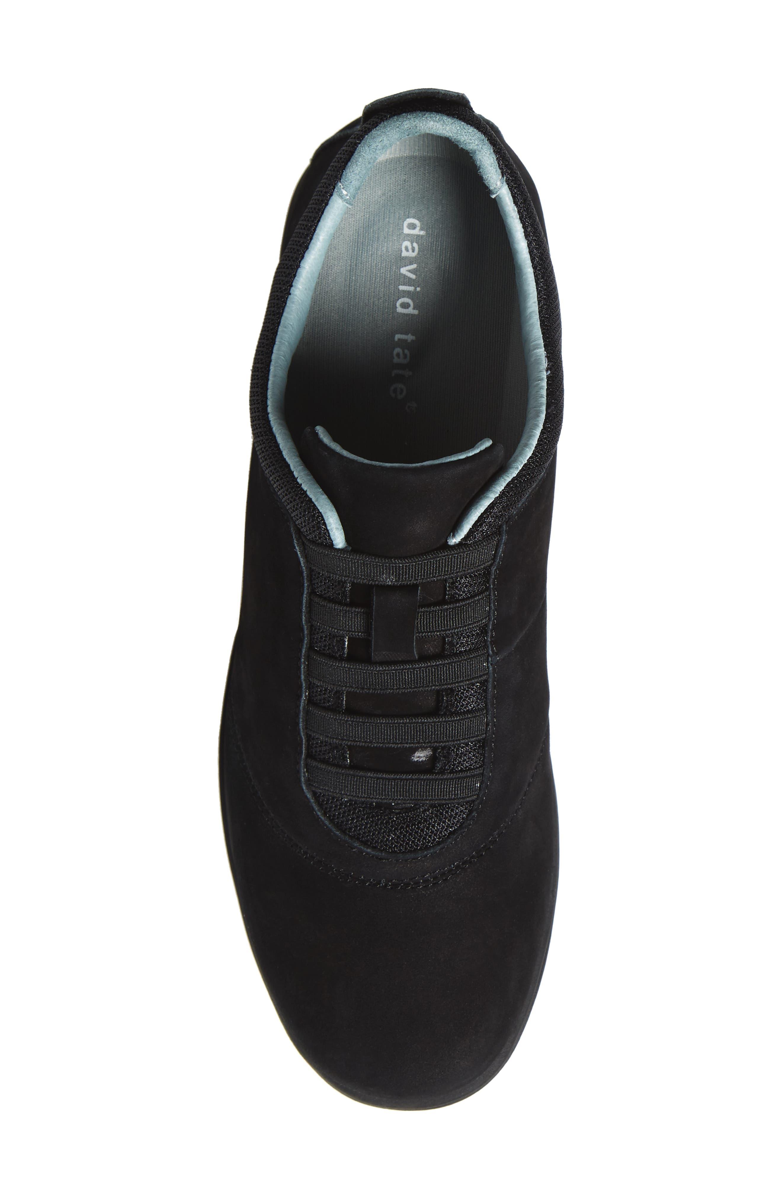 Dynamic Slip-On Sneaker,                             Alternate thumbnail 5, color,                             BLACK NUBUCK