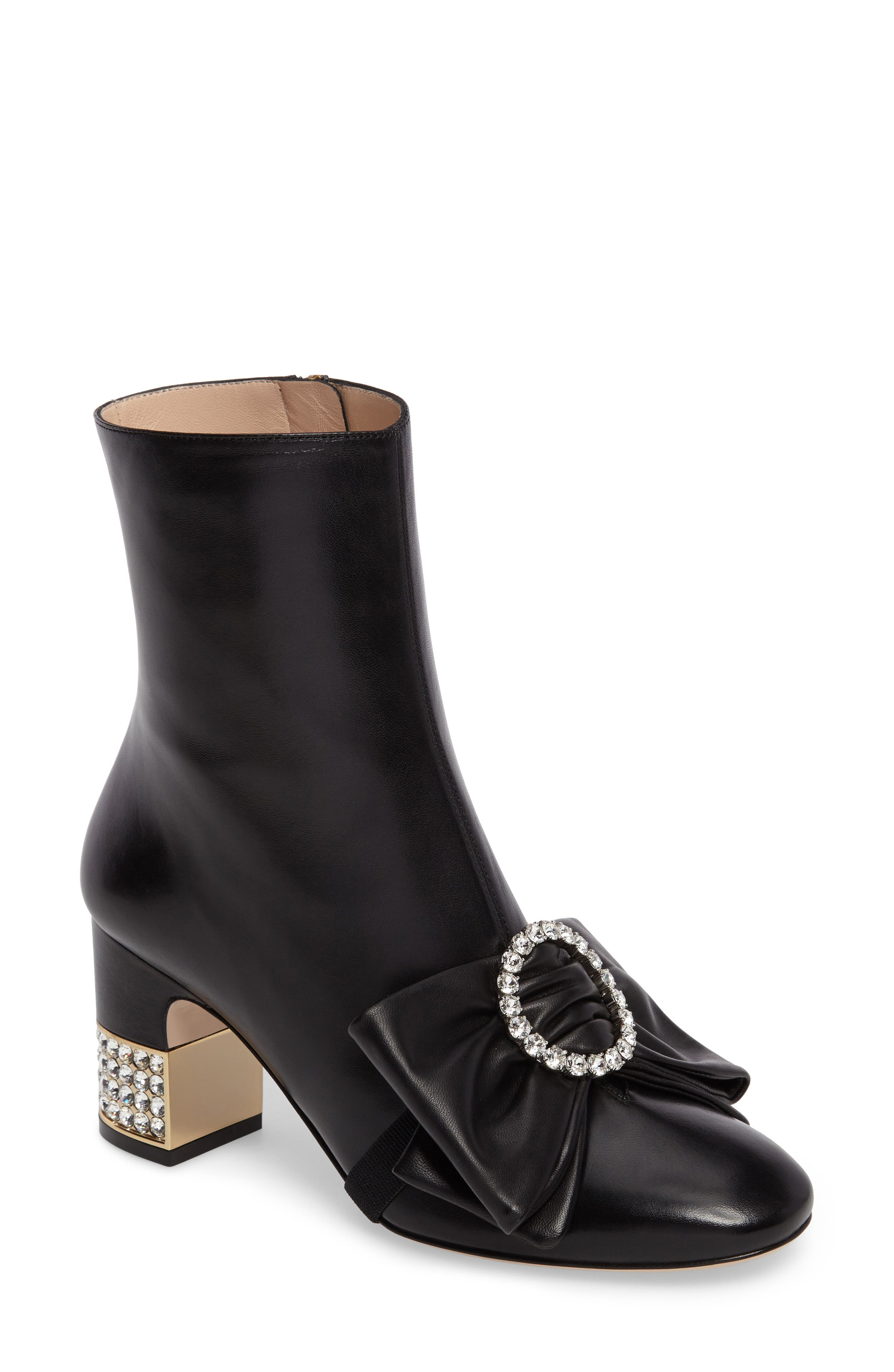 Candy Bow Crystal Bootie,                         Main,                         color, 001