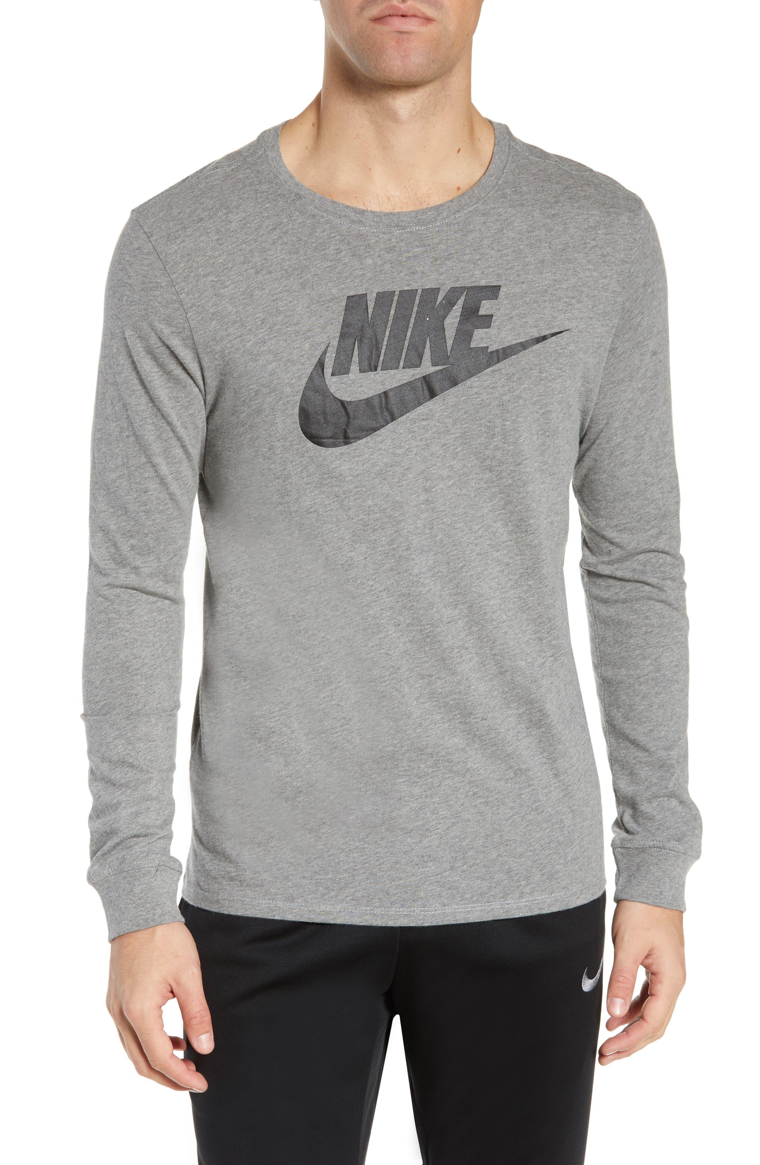 Nike Futura Icon Long Sleeve T-Shirt, Grey