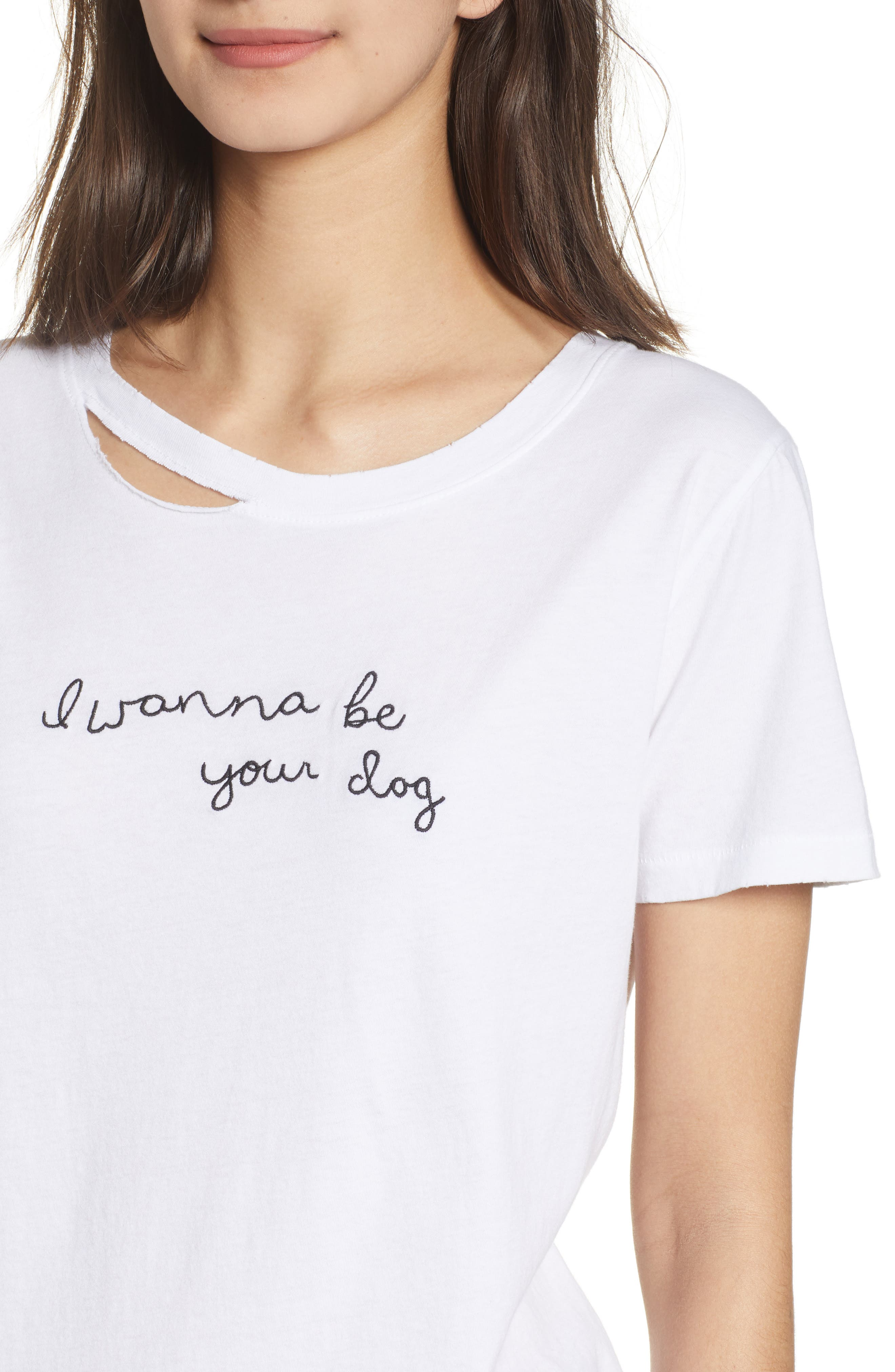 Harlow Embroidered Tee,                             Alternate thumbnail 4, color,                             100
