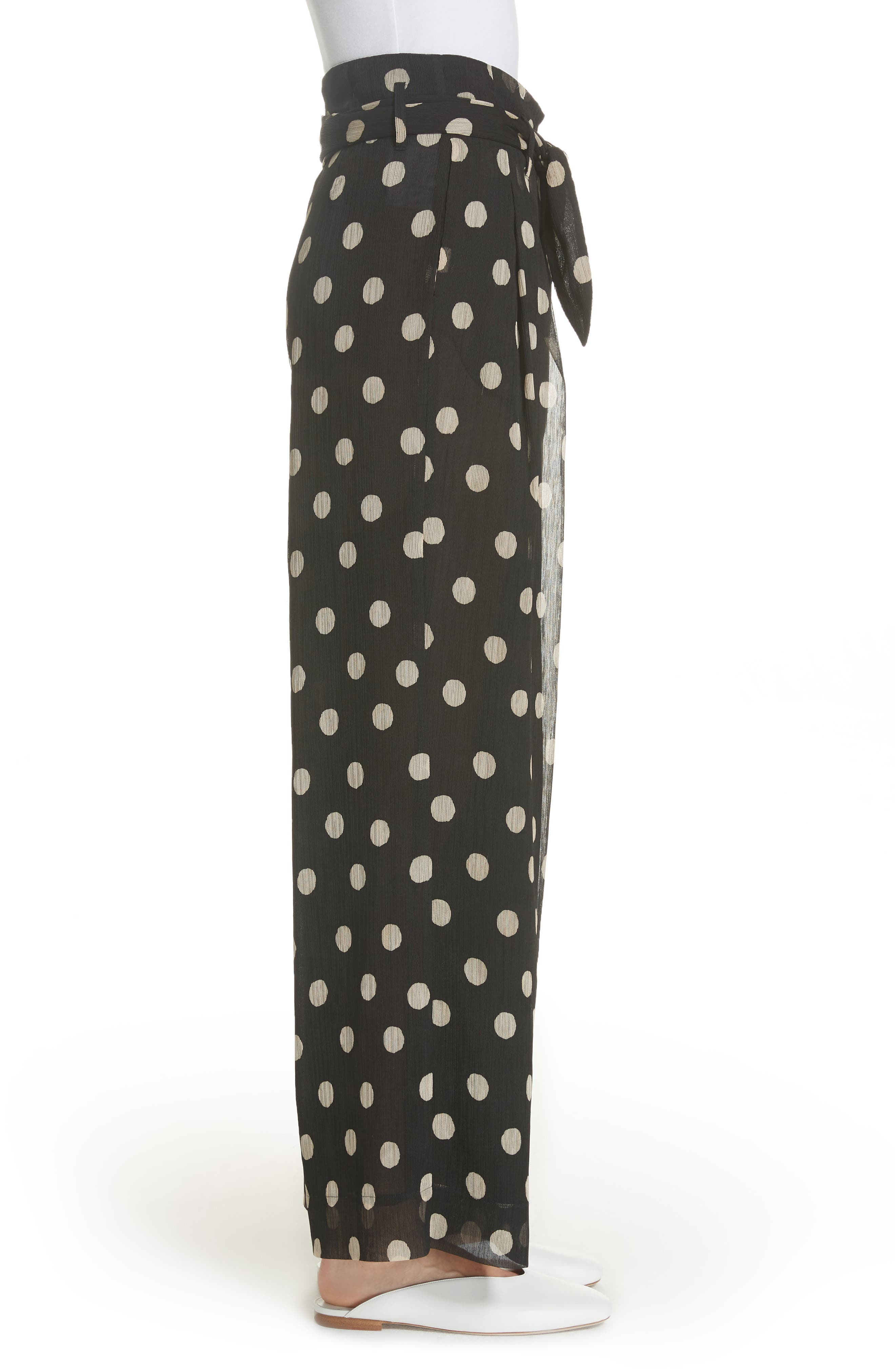 Nevada Polka Dot Chiffon Pants,                             Alternate thumbnail 3, color,                             POLKA DOT