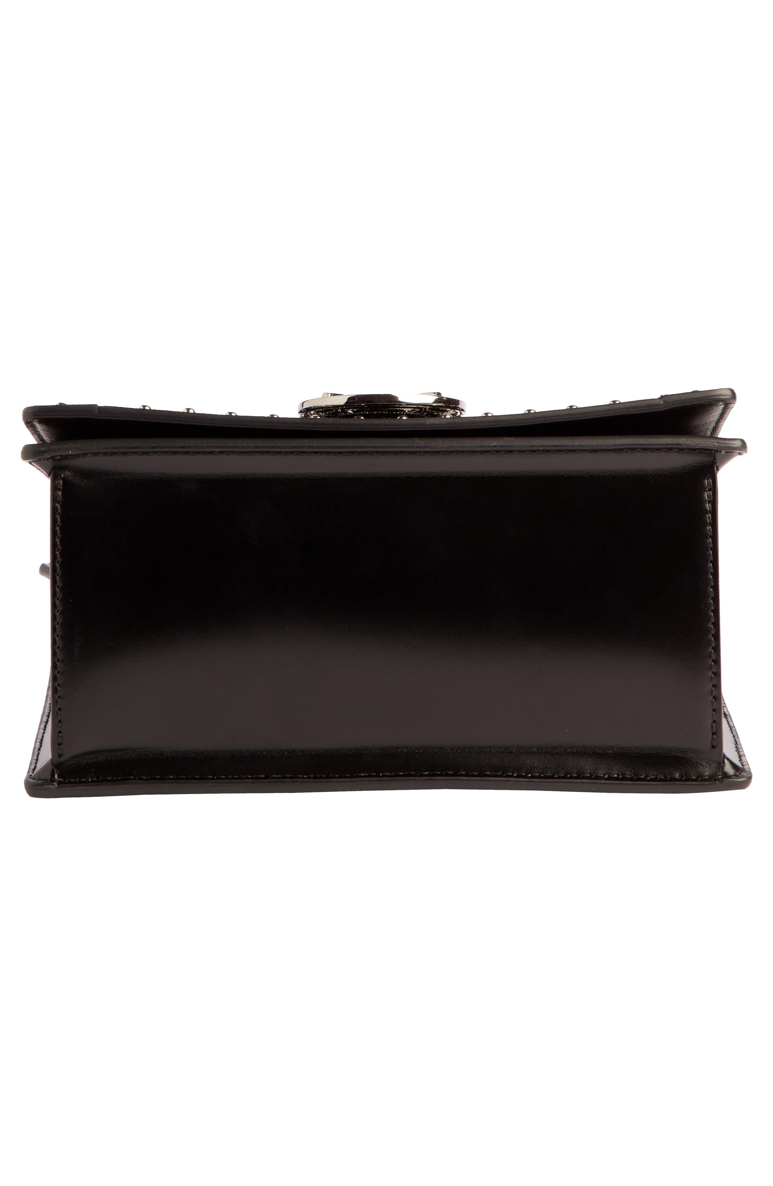 Baby Box Studded Velour Shoulder Bag,                             Alternate thumbnail 4, color,                             001