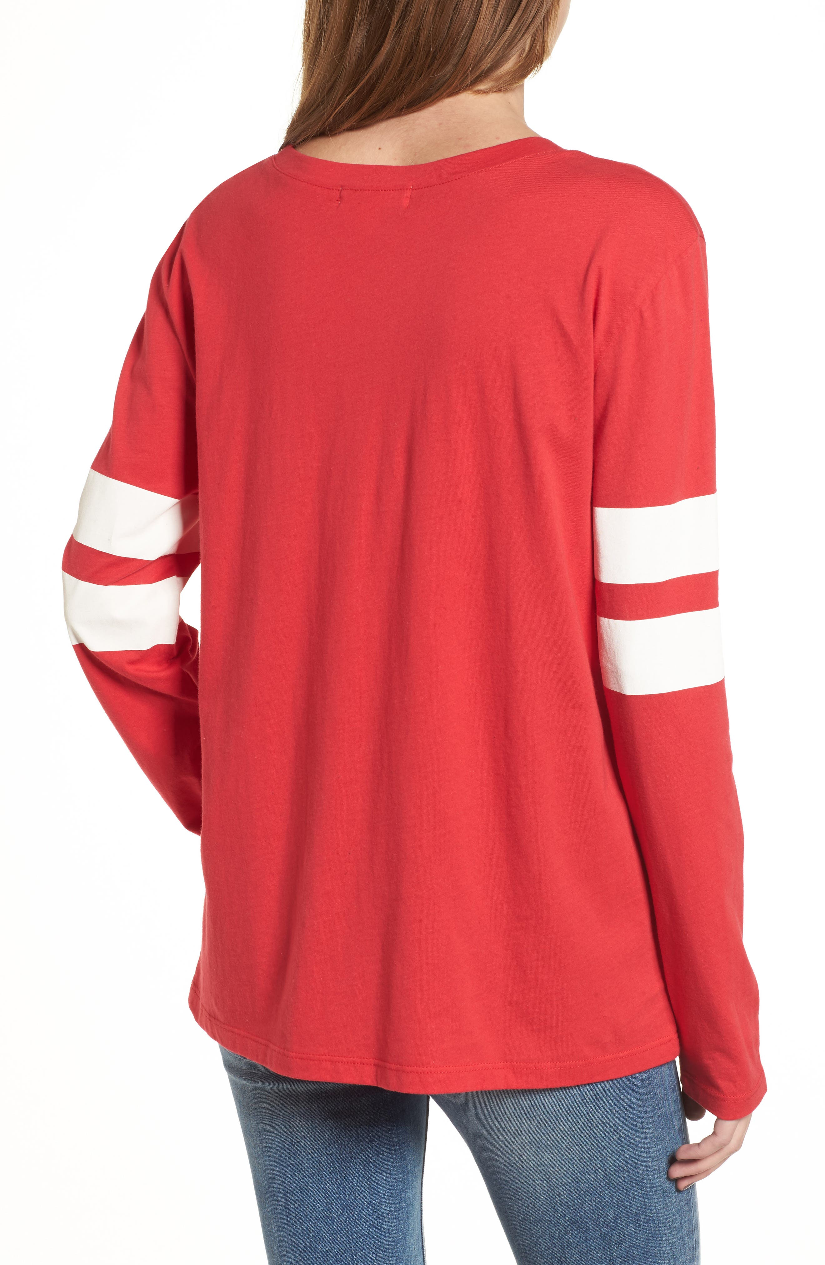 Varsity Stripe Cotton Tee,                             Alternate thumbnail 36, color,