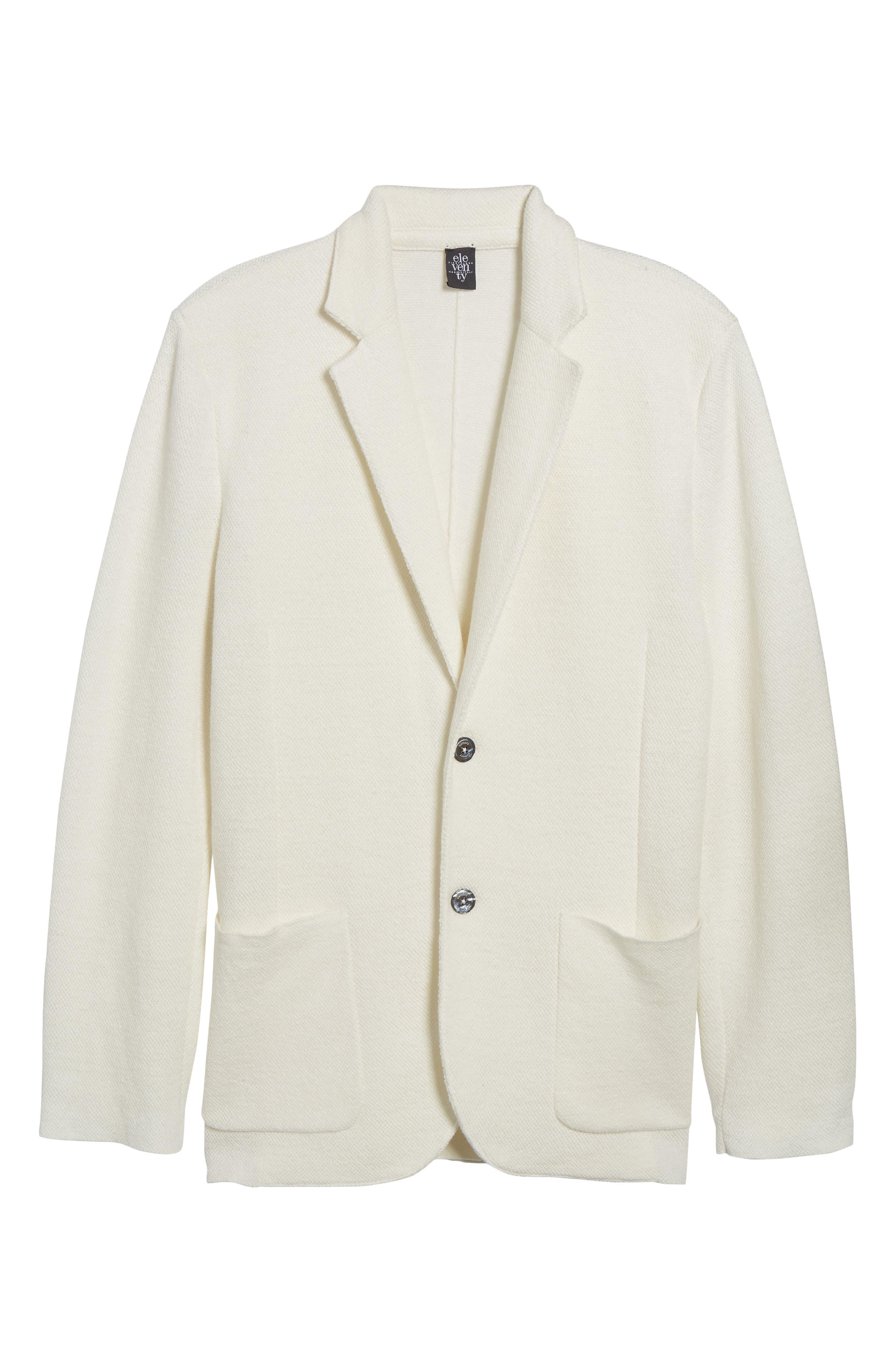 Slim Fit Linen Blend Sweater Jacket,                             Alternate thumbnail 6, color,                             102